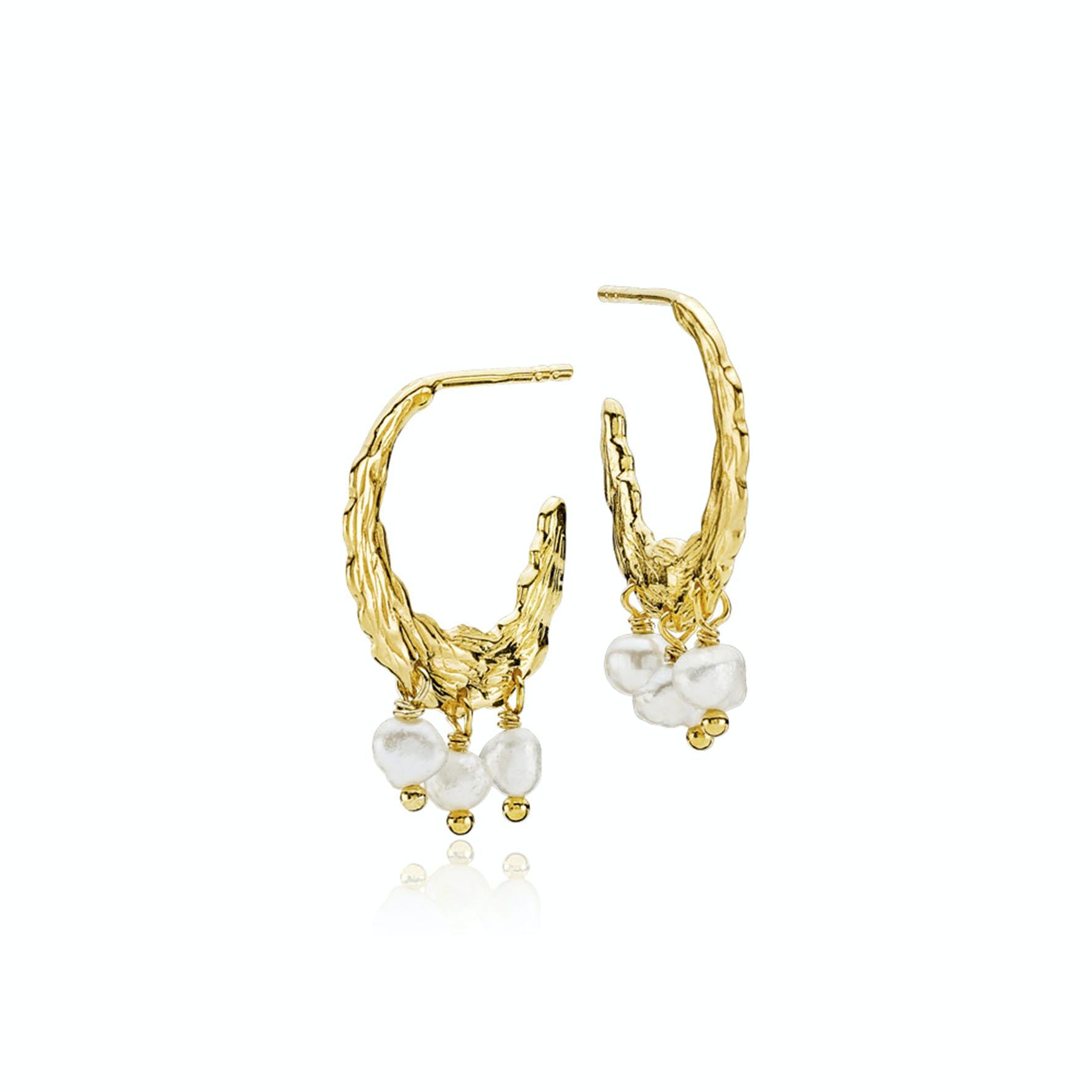Signe By Sistie Creol Earrings von Sistie in Vergoldet-Silber Sterling 925