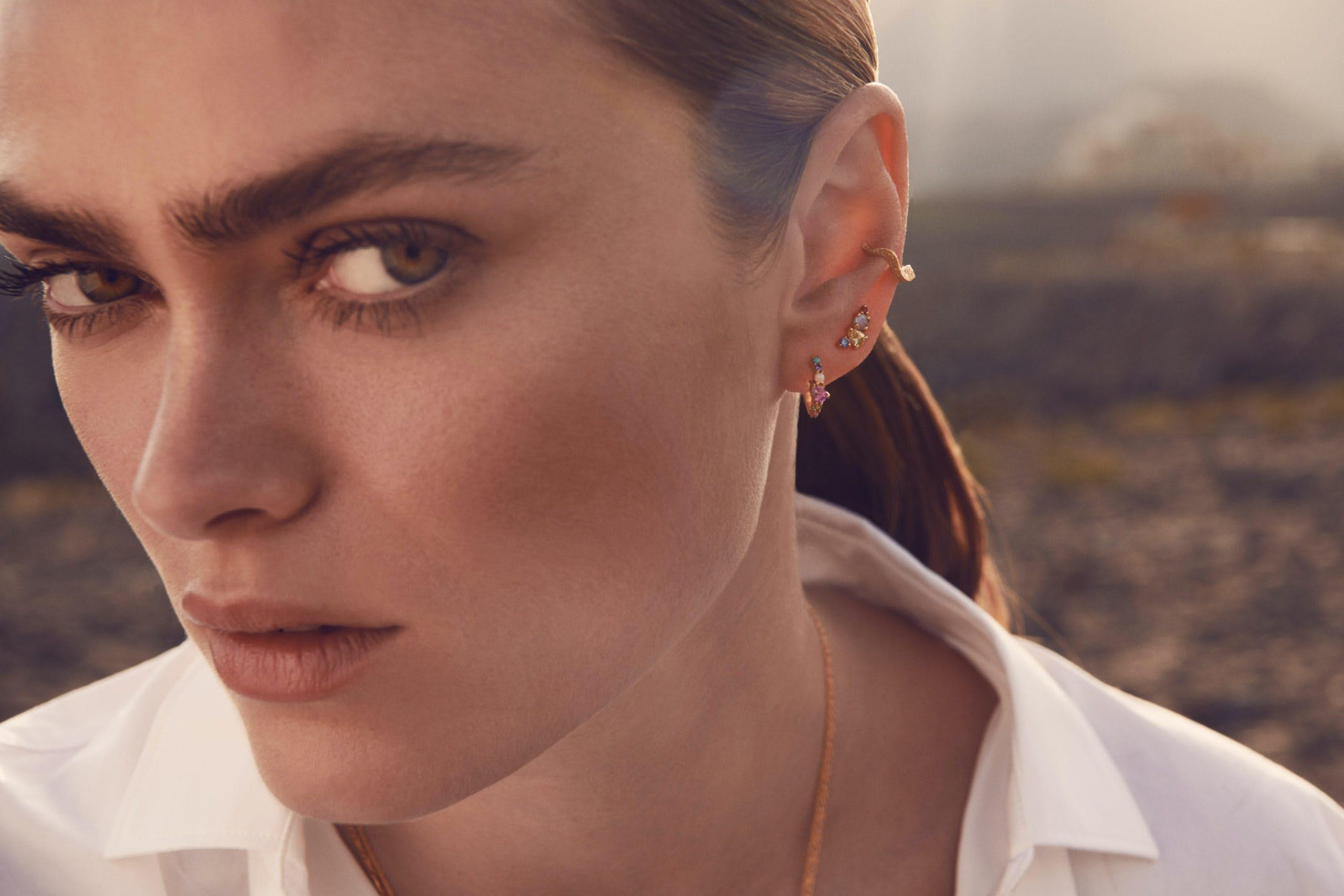 Calli Earrings fra Maanesten i Forgylt-Sølv Sterling 925