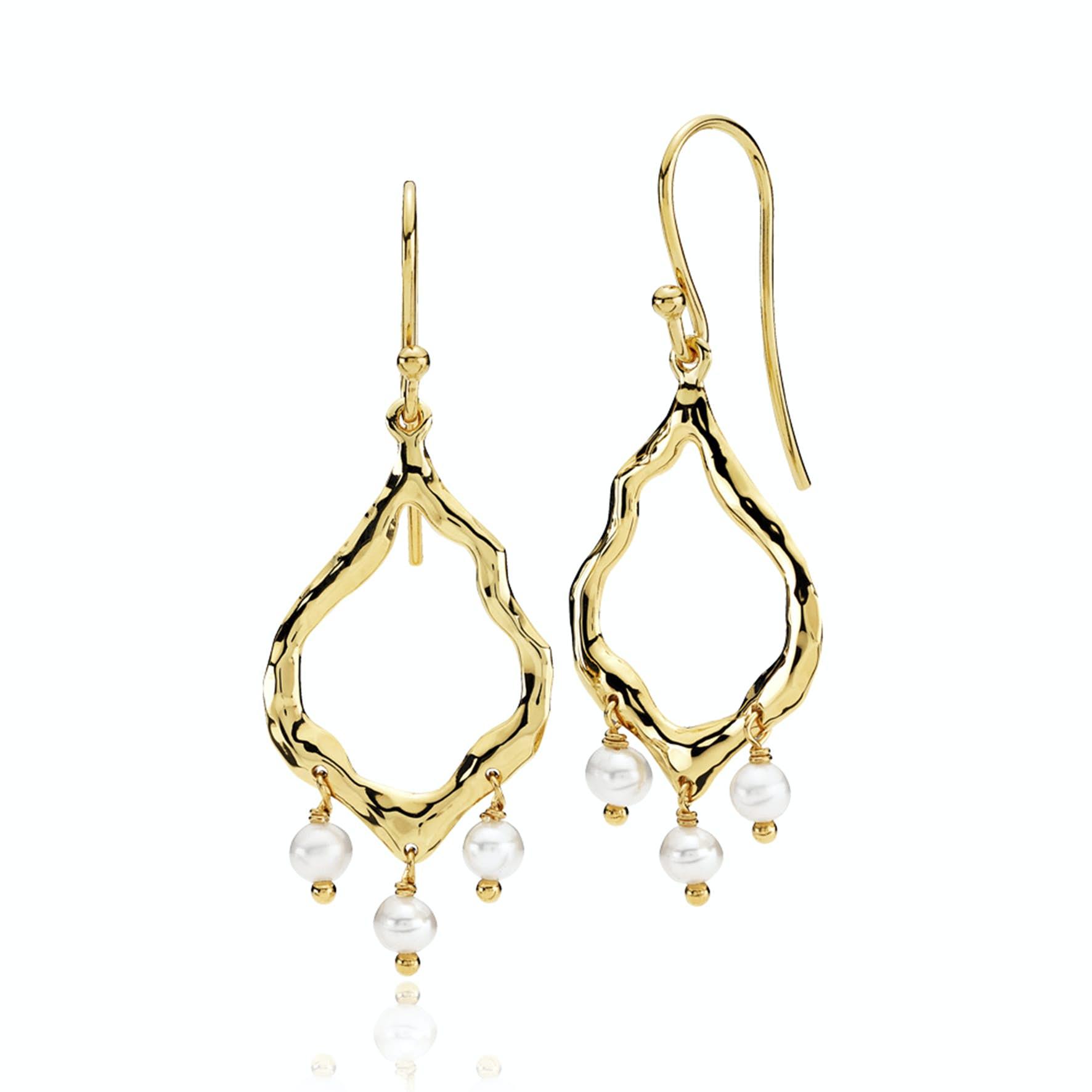 Emma Pearl Earrings från Izabel Camille i Förgyllt-Silver Sterling 925