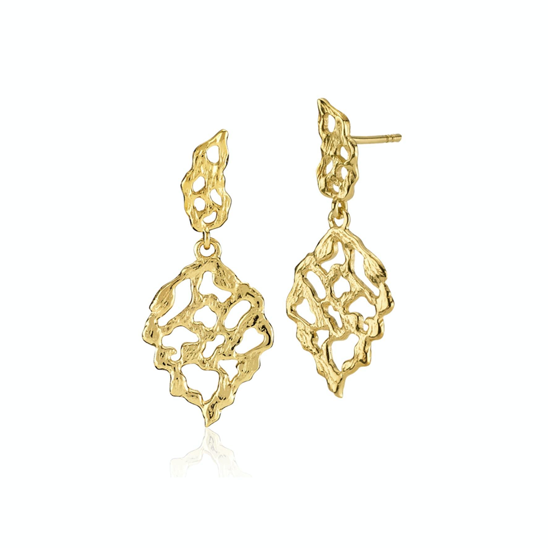 Holly Earrings fra Izabel Camille i Forgylt-Sølv Sterling 925