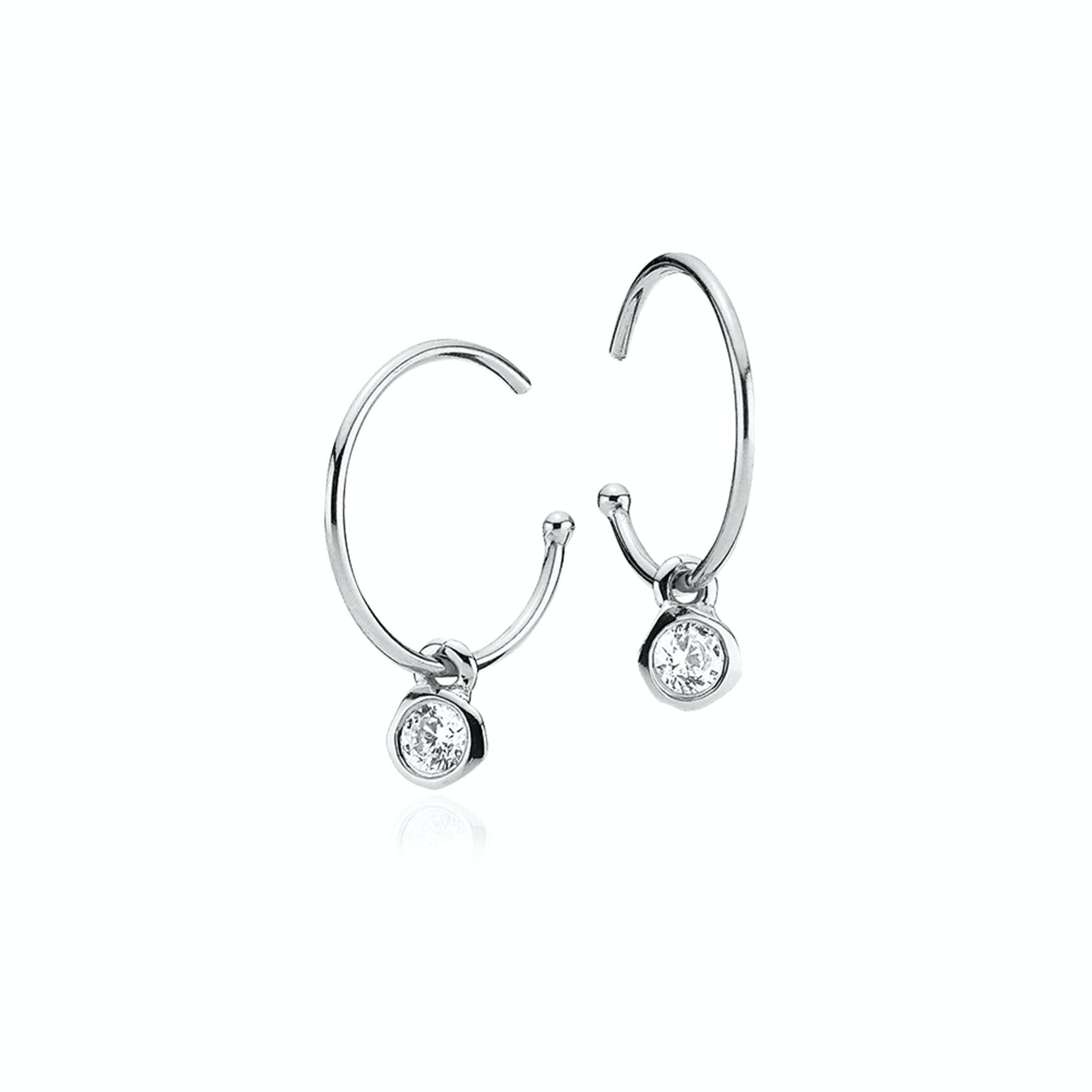 Passion Clear Crystal Earrings from Izabel Camille in Silver Sterling 925