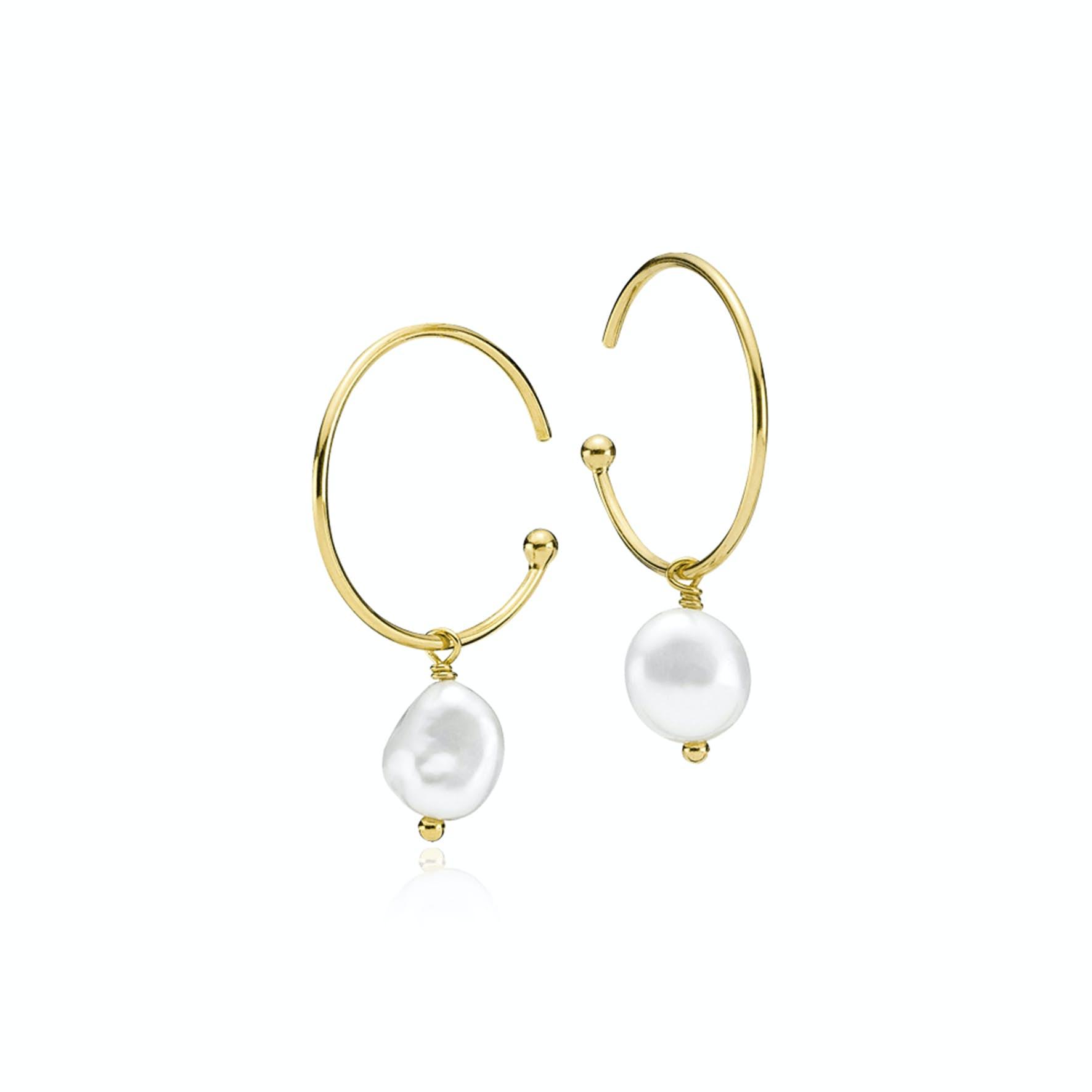 Passion Pearl Earrings fra Izabel Camille i Forgyldt-Sølv Sterling 925