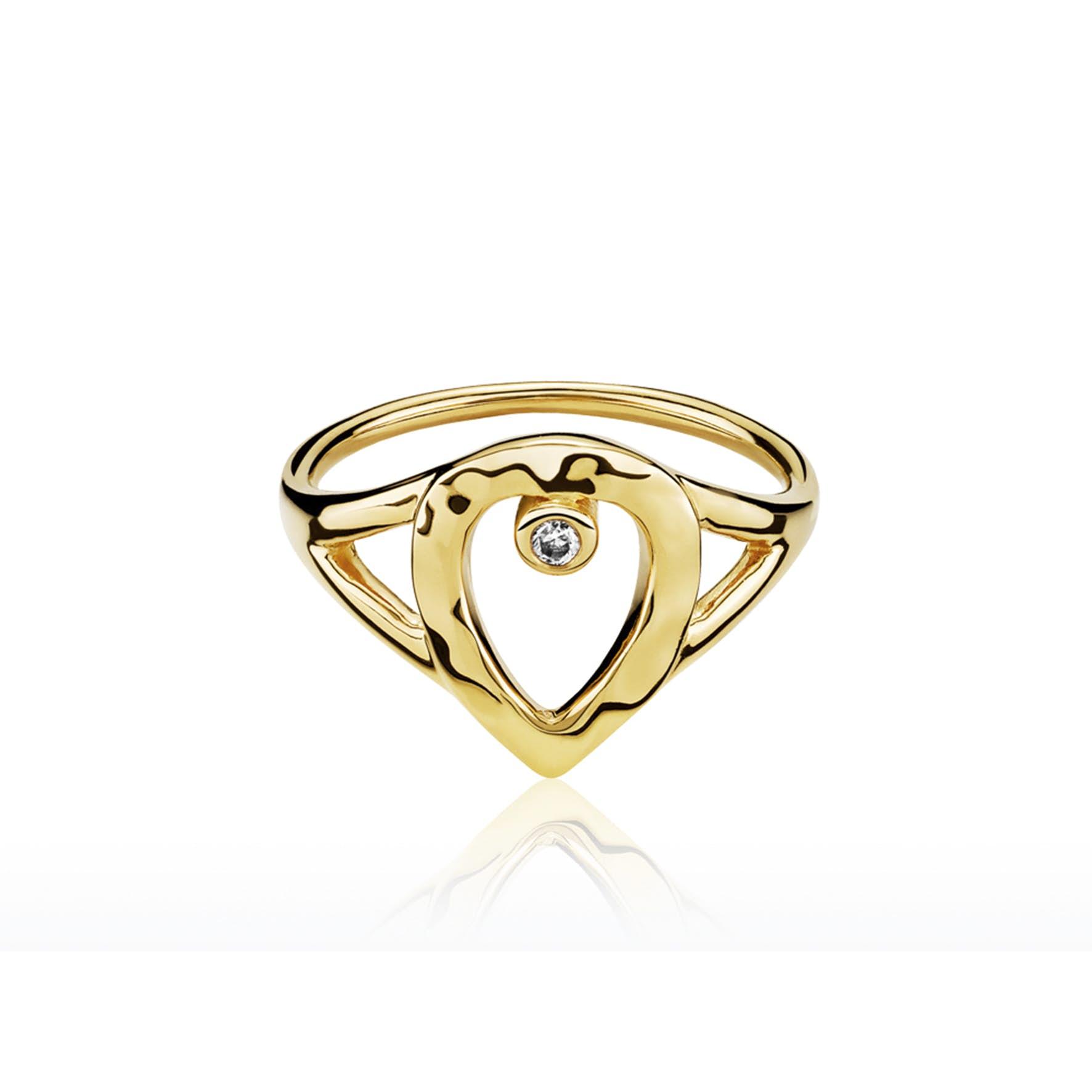 Cecilie Schmeichel Ring fra Izabel Camille i Forgyldt-Sølv Sterling 925