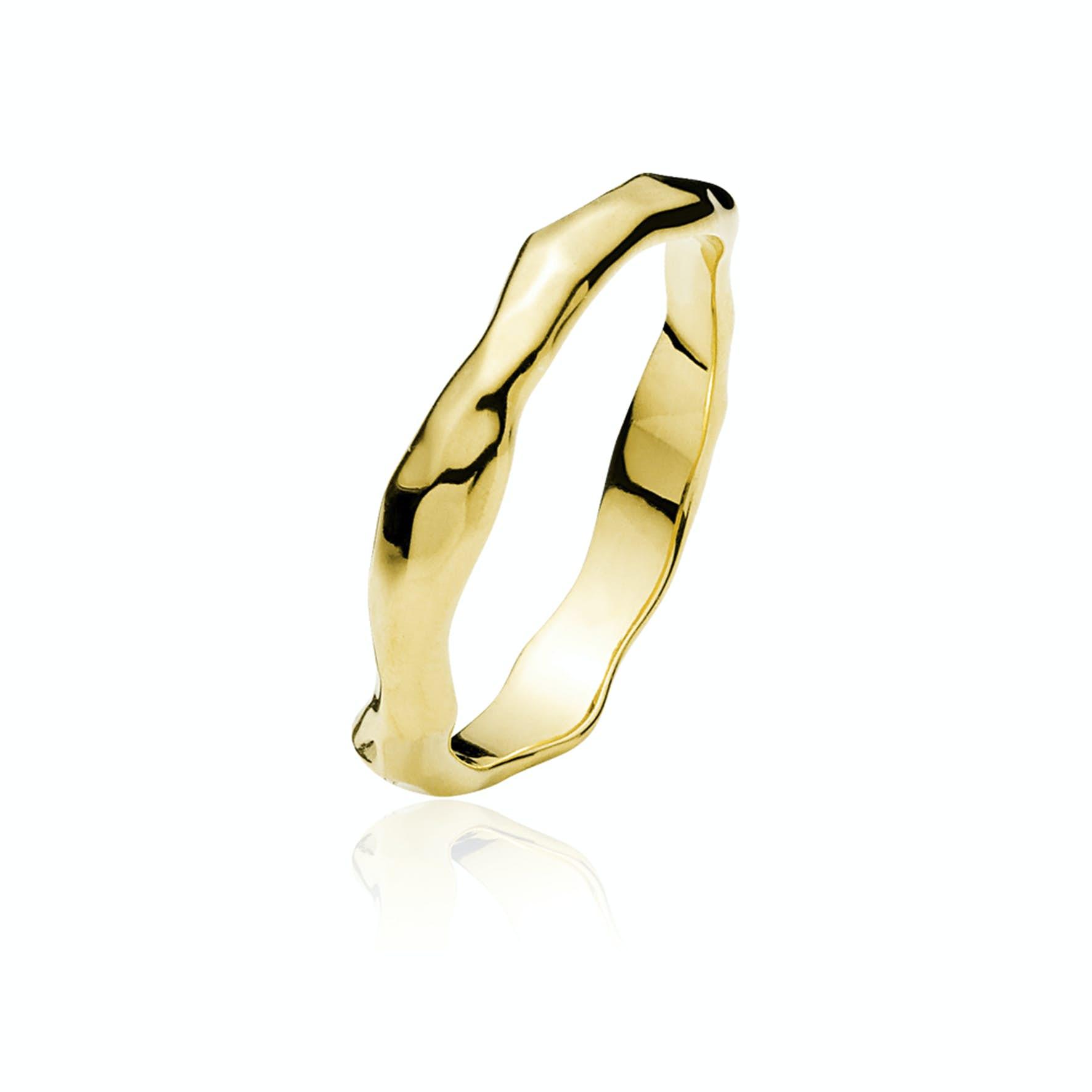 Emma Ring von Izabel Camille in Vergoldet-Silber Sterling 925