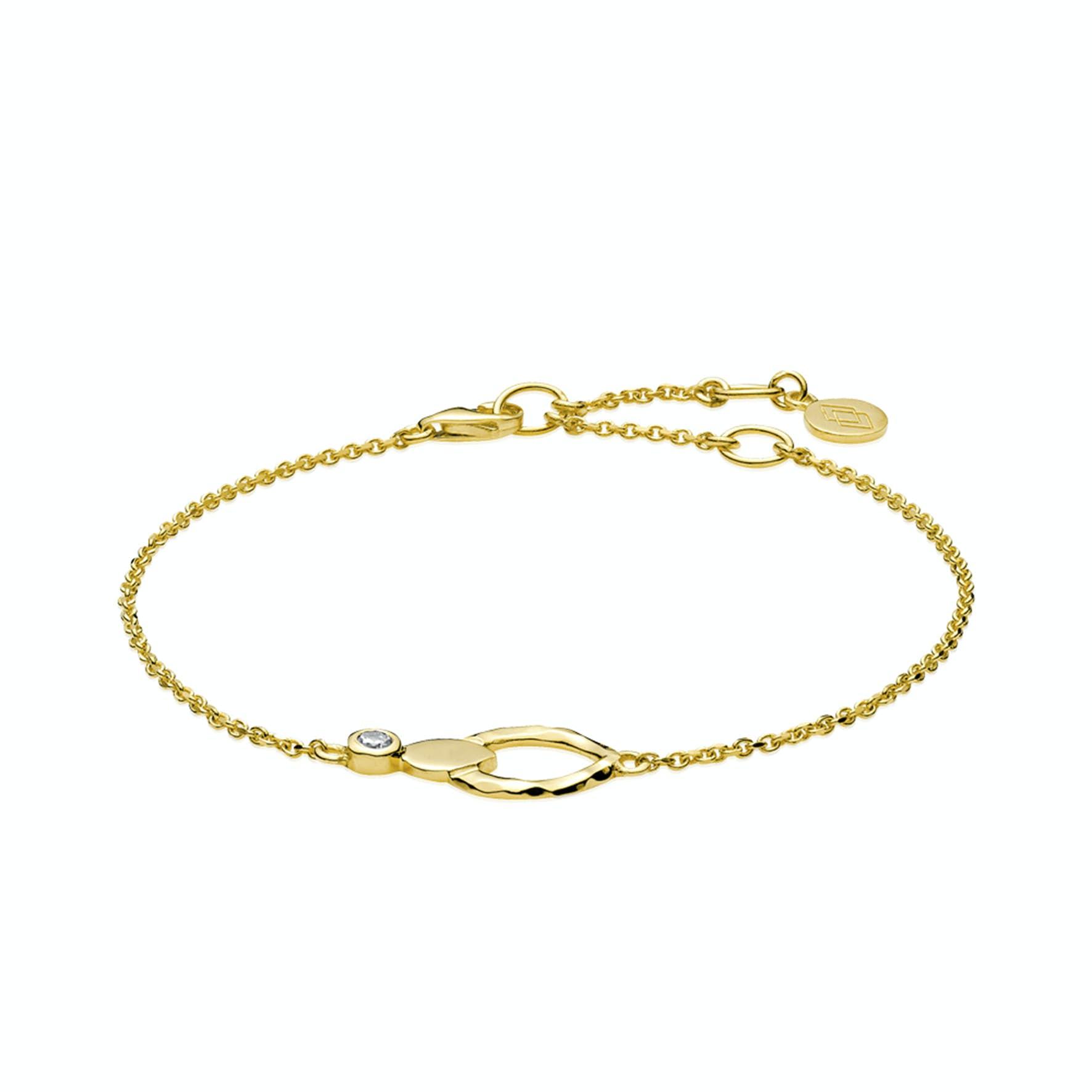 Cecilie Schmeichel Bracelet fra Izabel Camille i Forgyldt-Sølv Sterling 925
