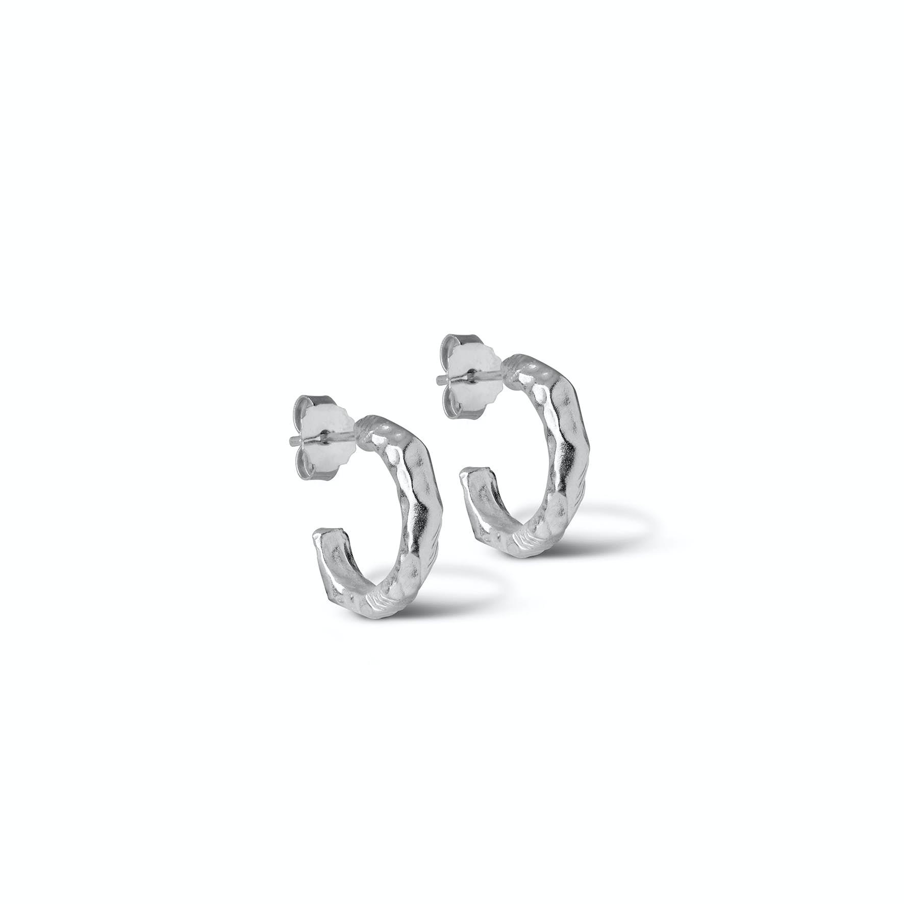 Hali Hoops Small von Enamel Copenhagen in Silber Sterling 925