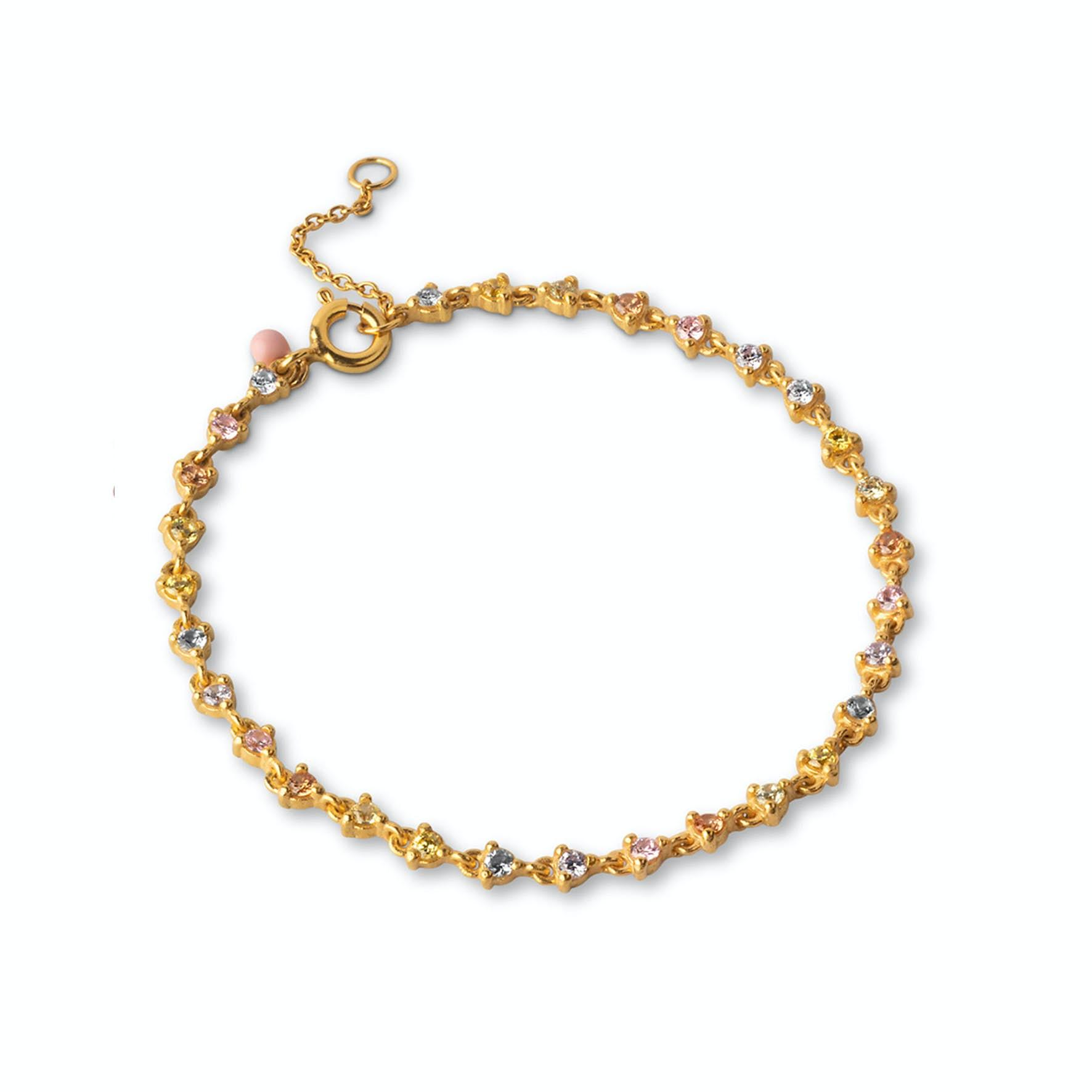 Luella Bracelet Rainbow fra Enamel Copenhagen i Forgyldt-Sølv Sterling 925
