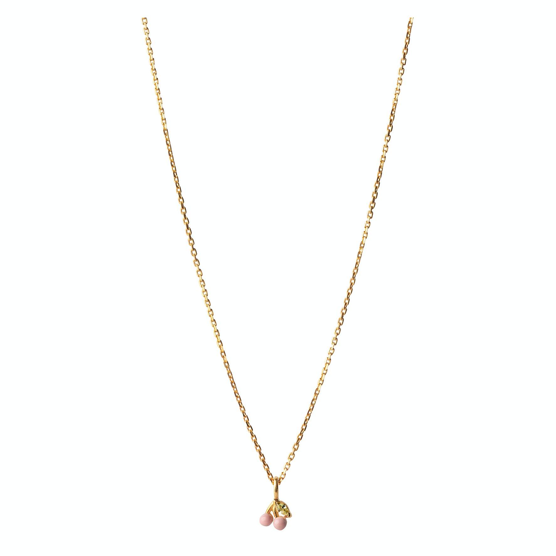 Cherry Necklace Light Pink