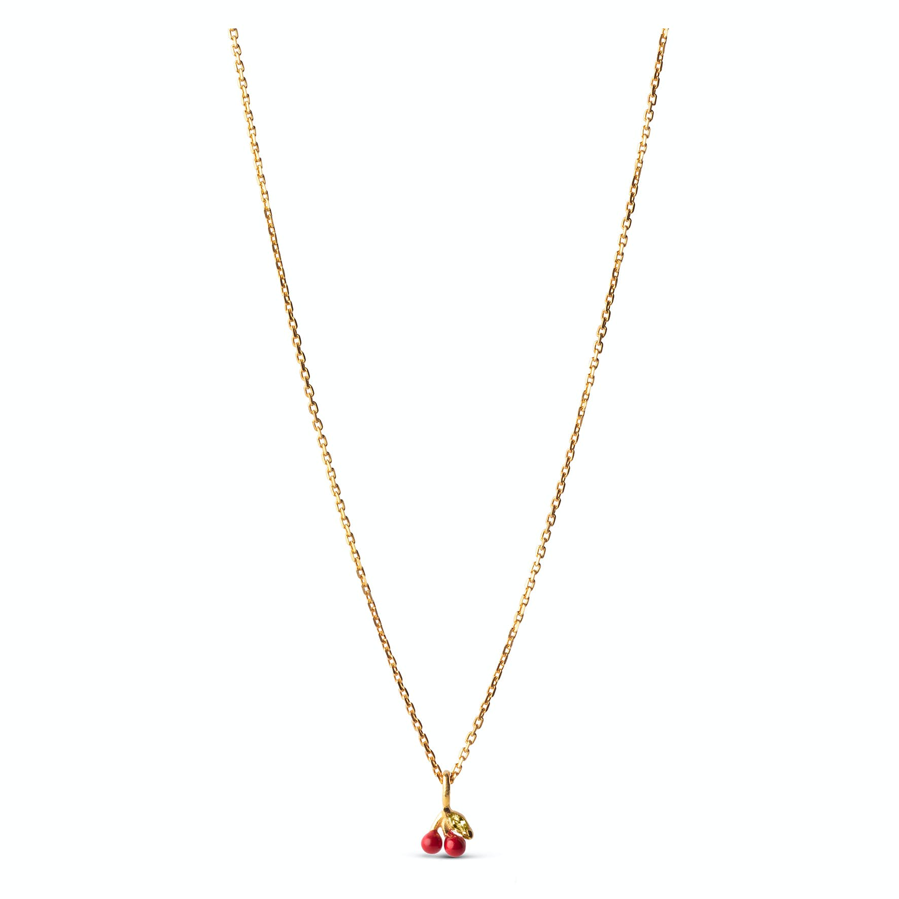 Cherry Necklace Red from Enamel Copenhagen in Goldplated-Silver Sterling 925