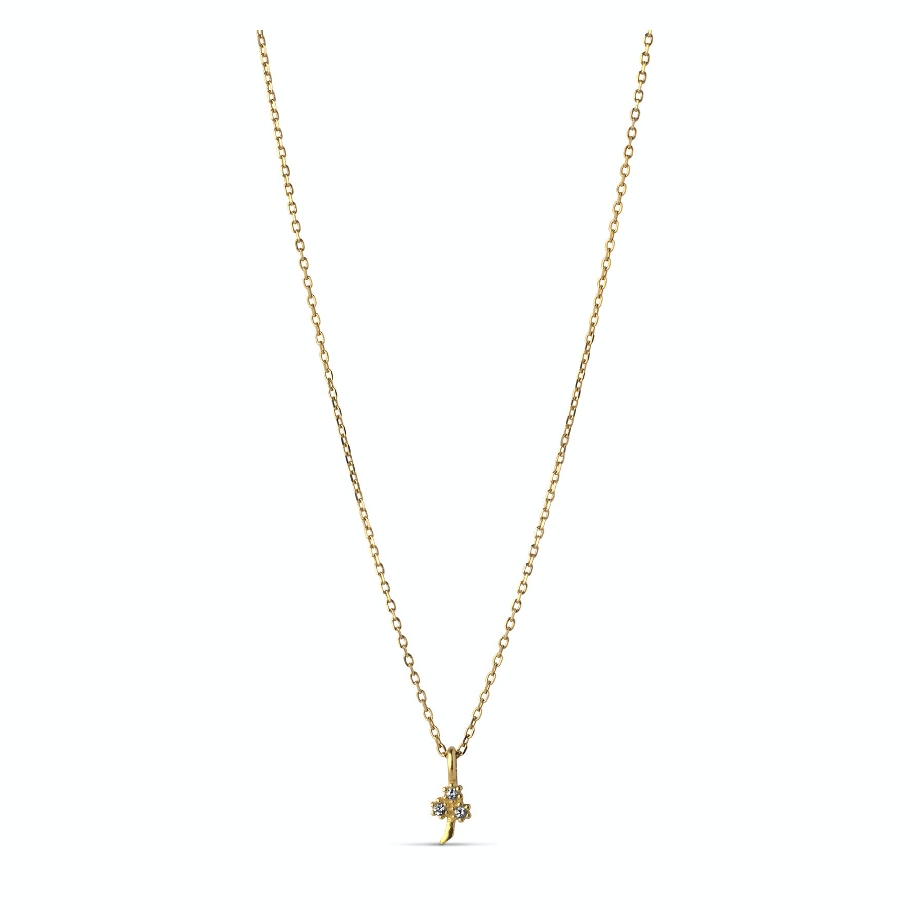 Clover Necklace Clear