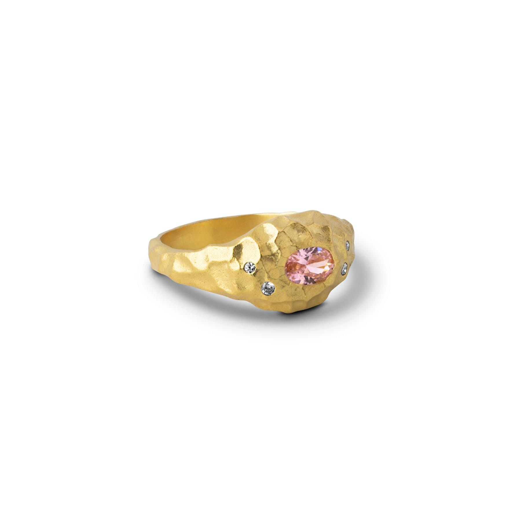 Leia Ring fra Enamel Copenhagen i Forgyldt-Sølv Sterling 925