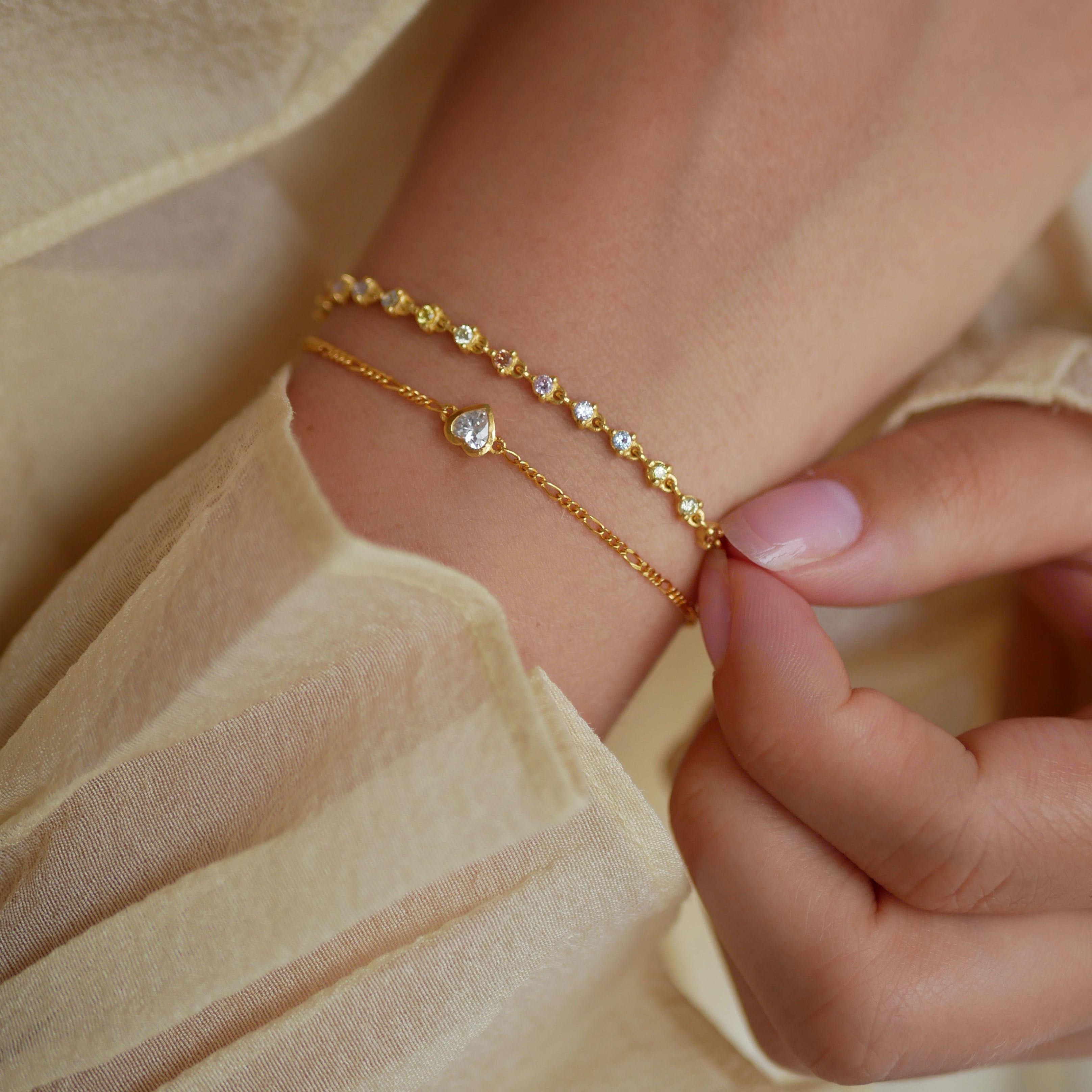 Loveable Bracelet Clear from Enamel Copenhagen in Goldplated-Silver Sterling 925