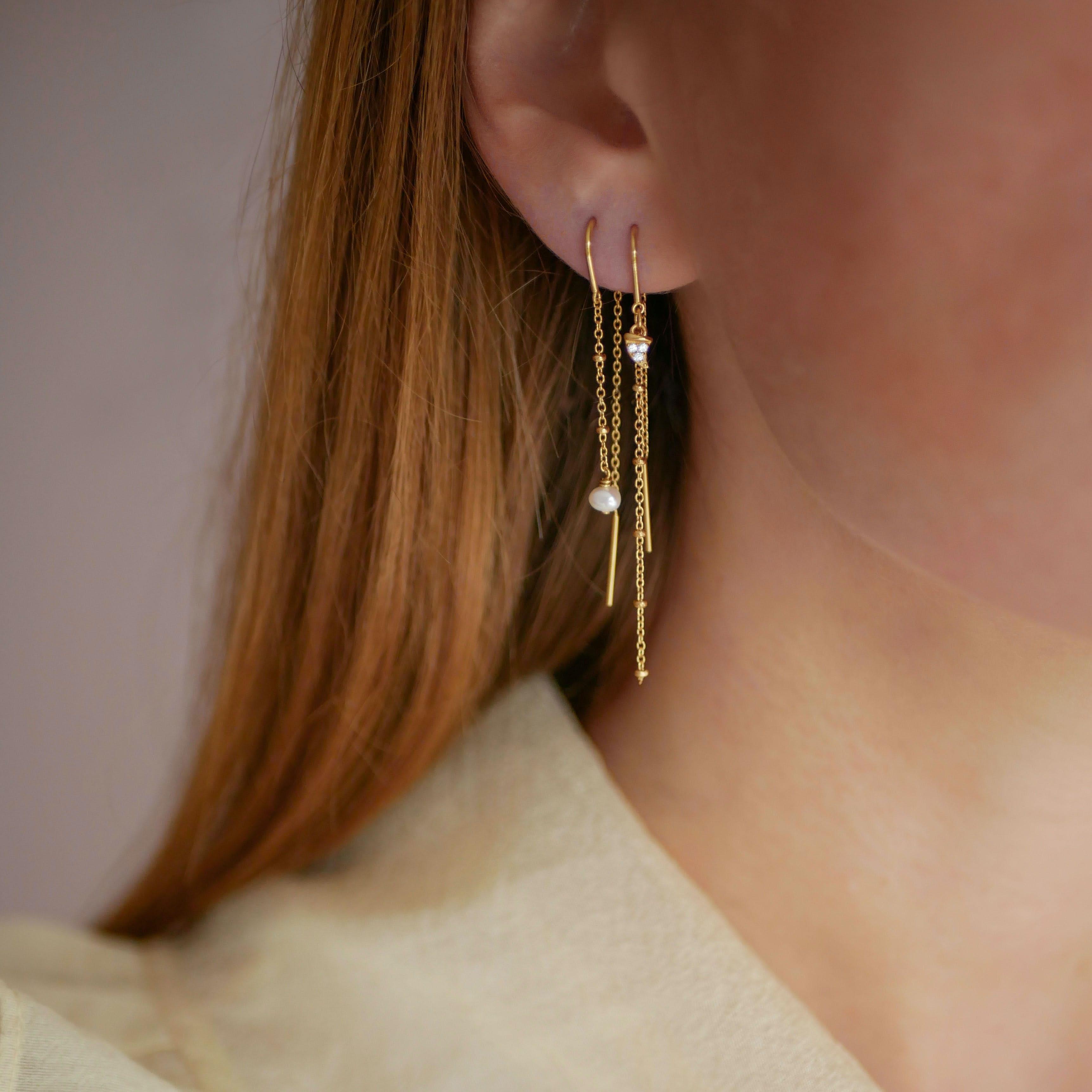Lilja Earrings Solid from Enamel Copenhagen in Goldplated-Silver Sterling 925