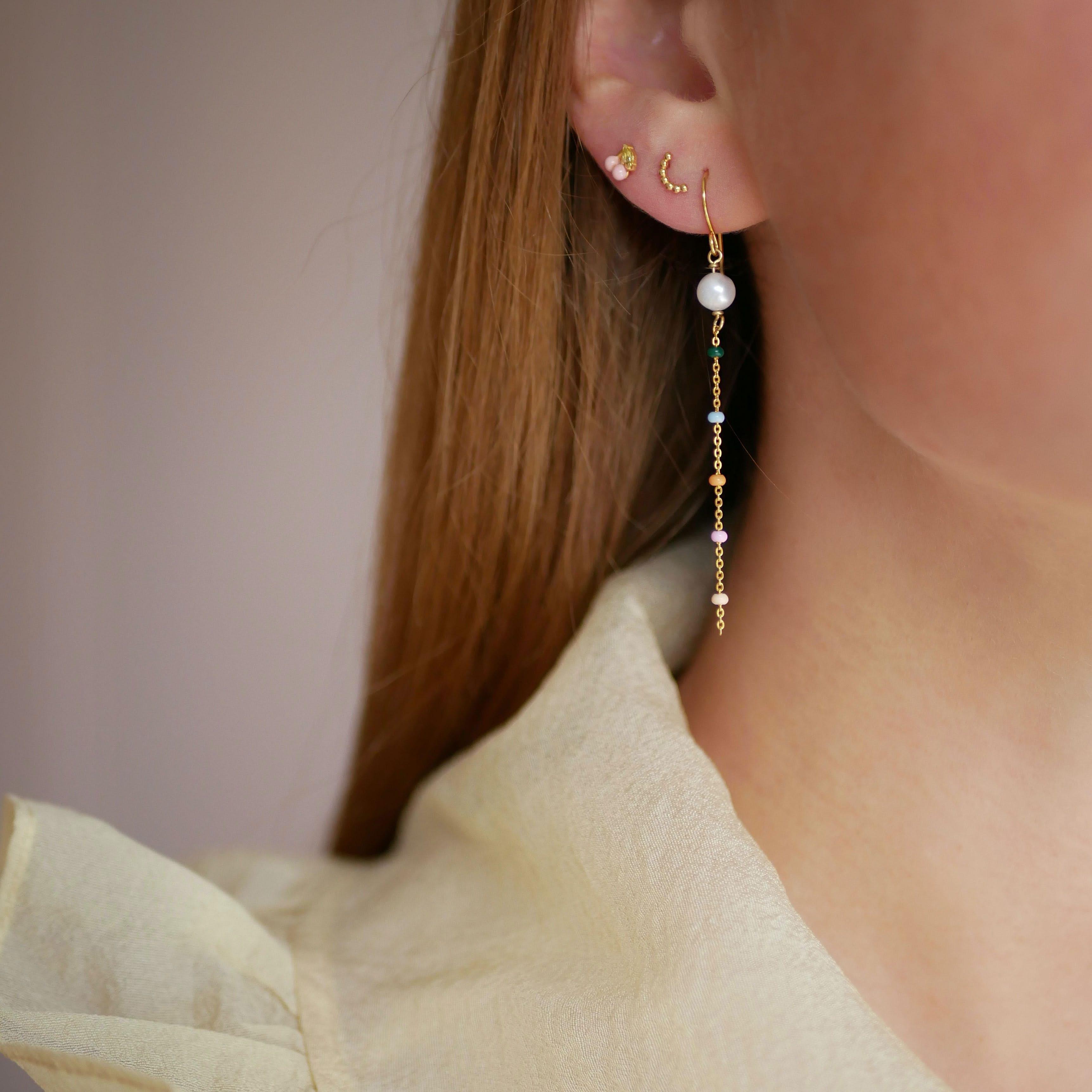 Lola Perlita Earrings Dreamy Pearl from Enamel Copenhagen in Goldplated-Silver Sterling 925