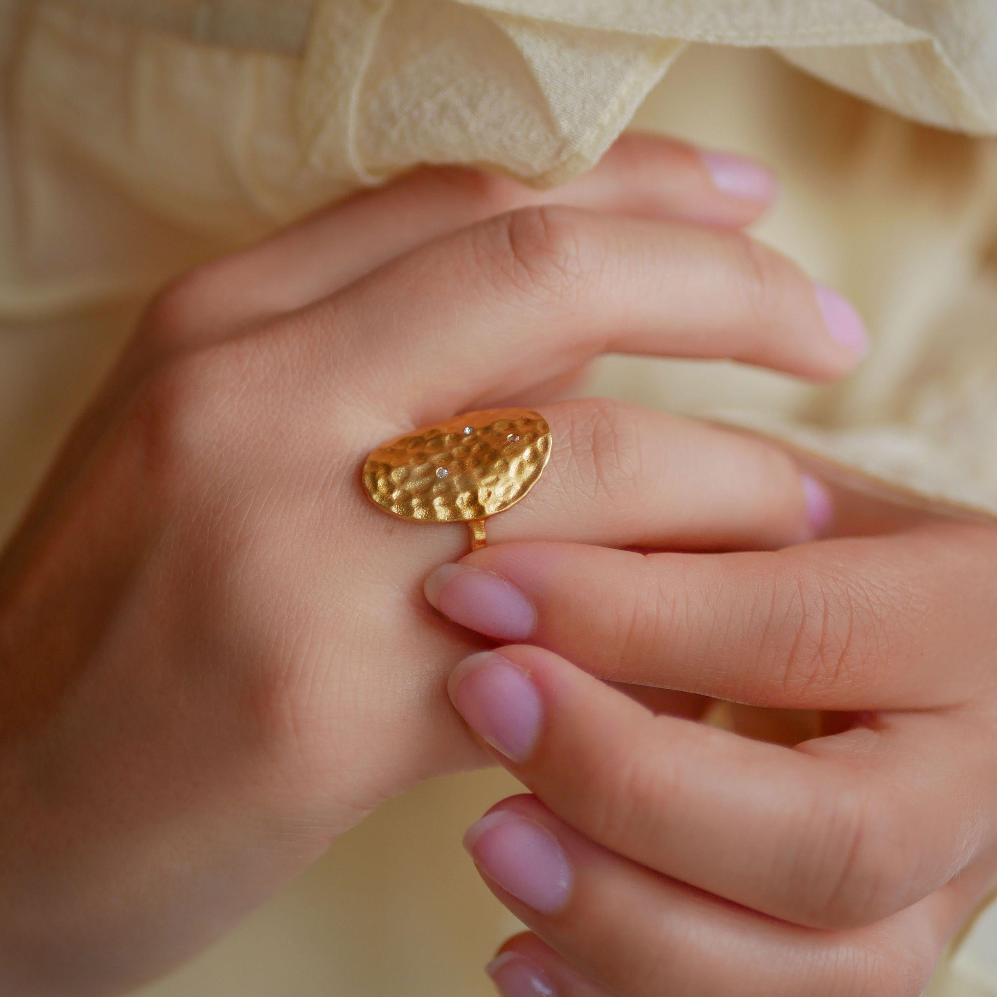 Zola Ring Clear von Enamel Copenhagen in Vergoldet-Silber Sterling 925