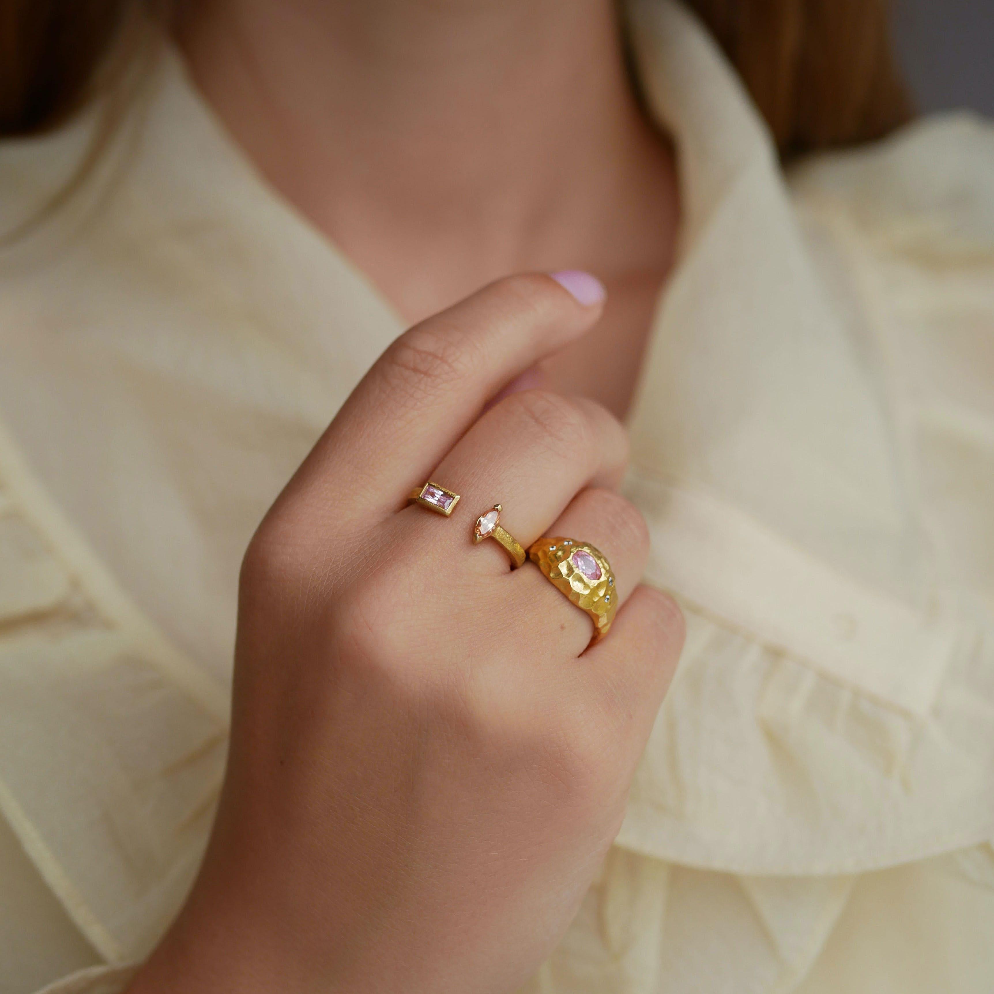 Isolde Ring från Enamel Copenhagen i Förgyllt-Silver Sterling 925