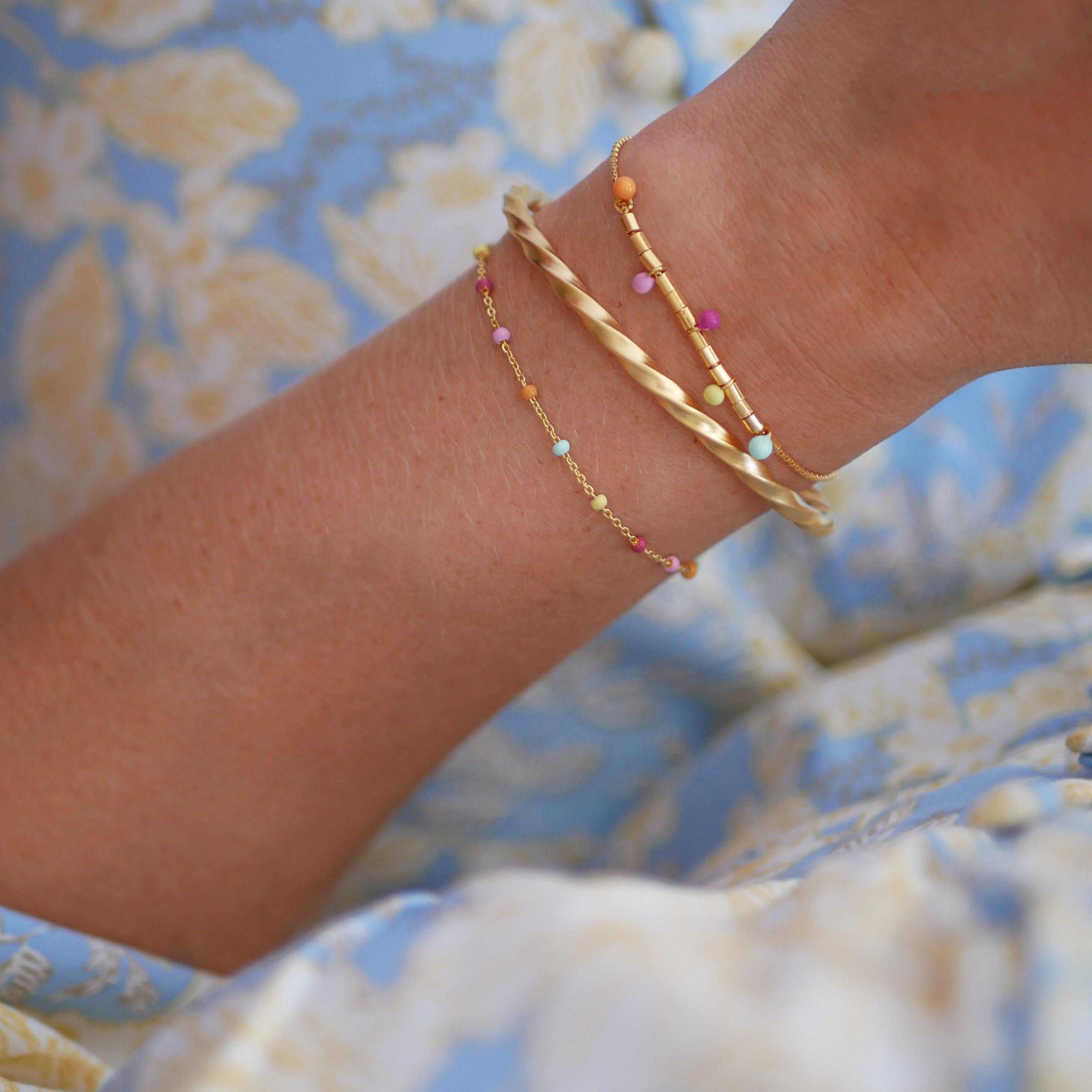 Lola Bracelet Heavenly fra Enamel Copenhagen i Forgylt-Sølv Sterling 925