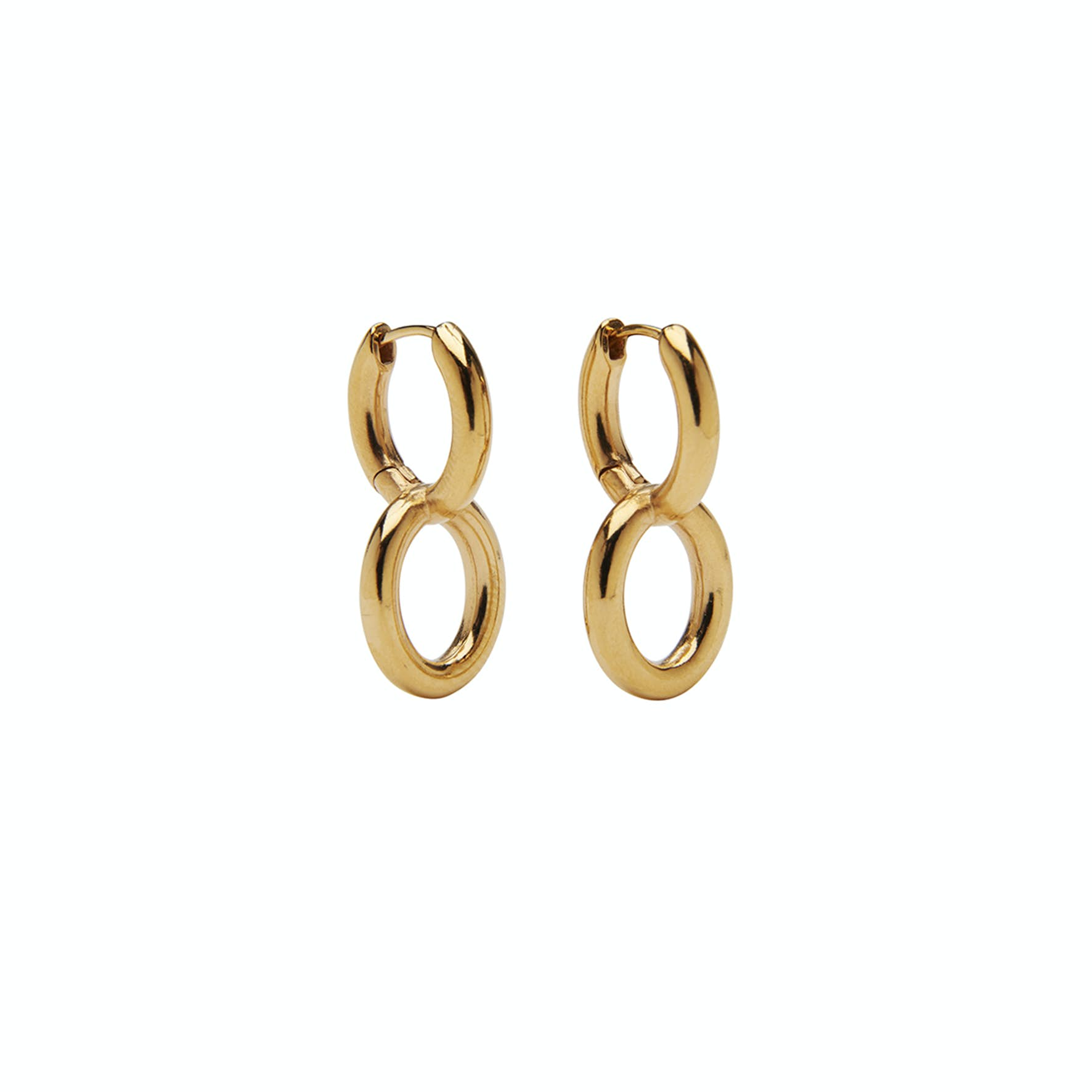 Maxie Double Hoops von Pico in Vergoldetes Messing