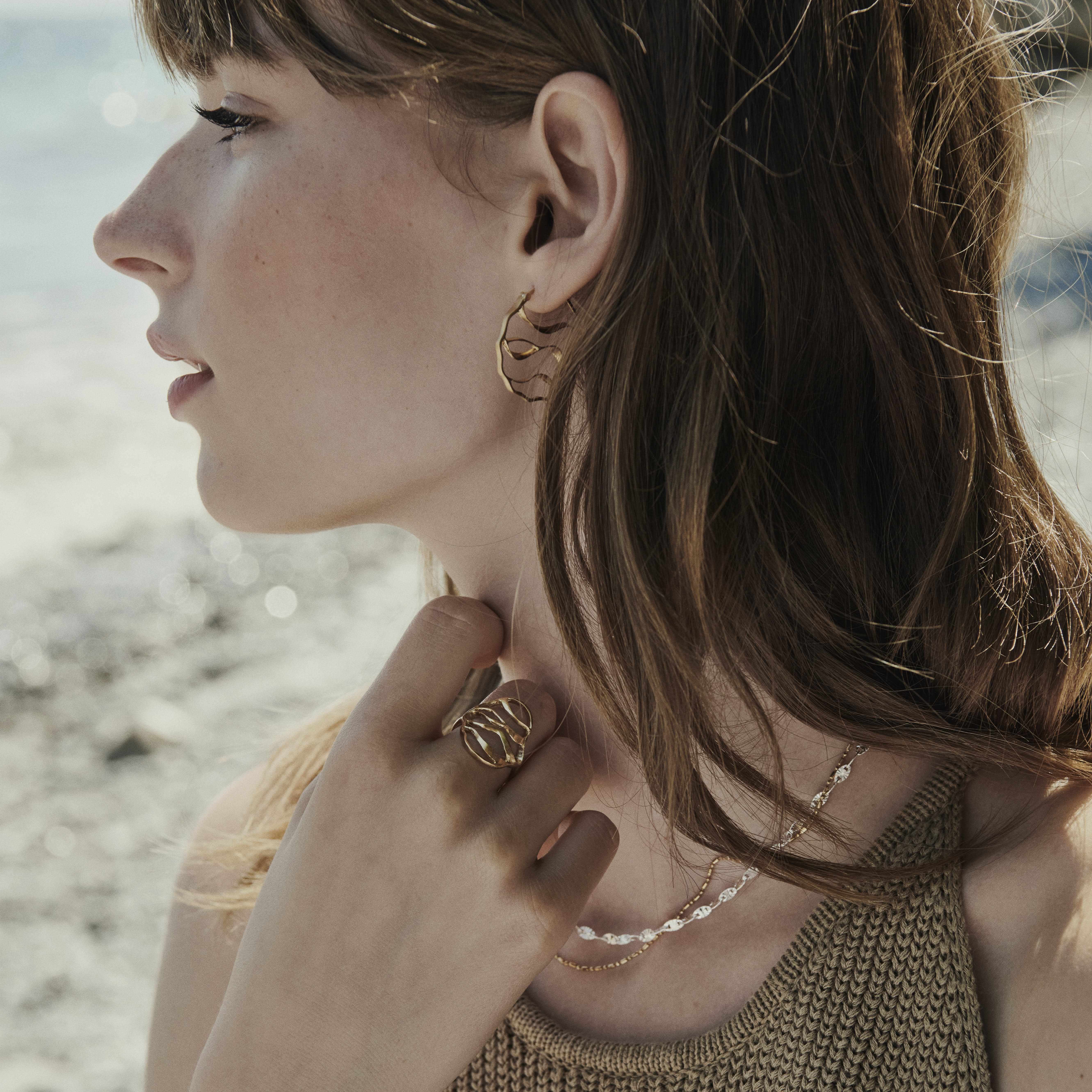 Evelyn Necklace from Pernille Corydon in Goldplated-Silver Sterling 925