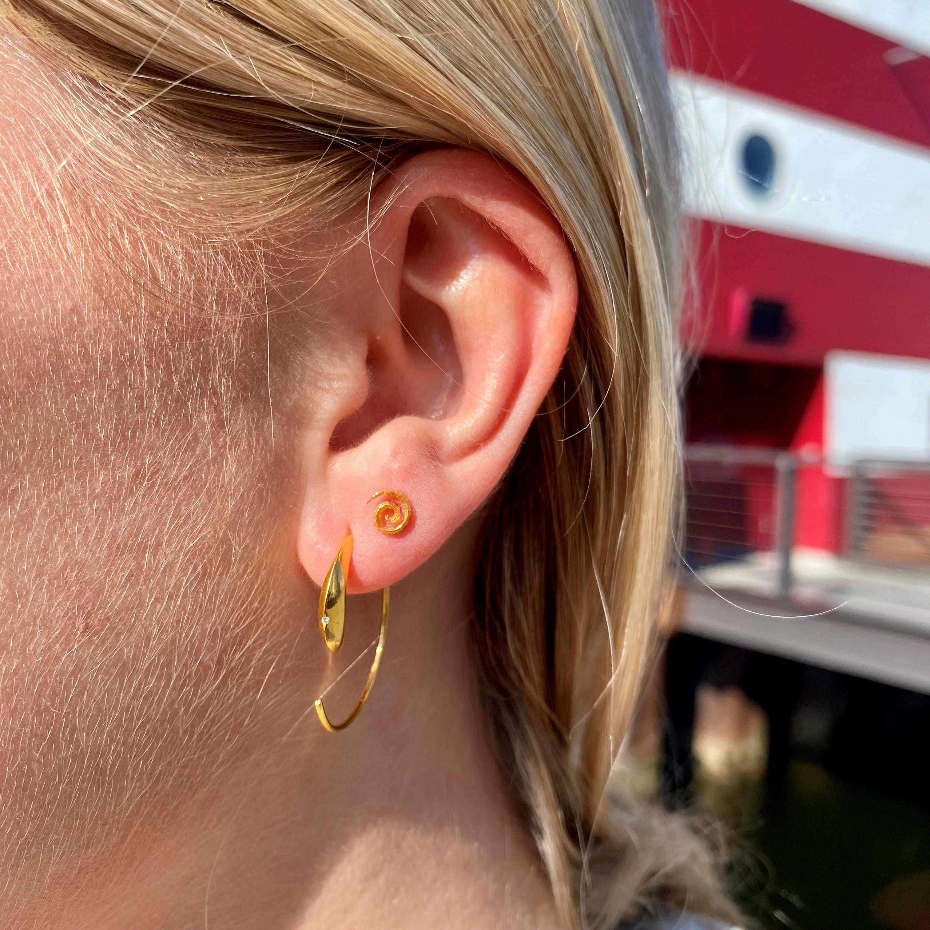 Linda earrings from Maanesten in Silver Sterling 925