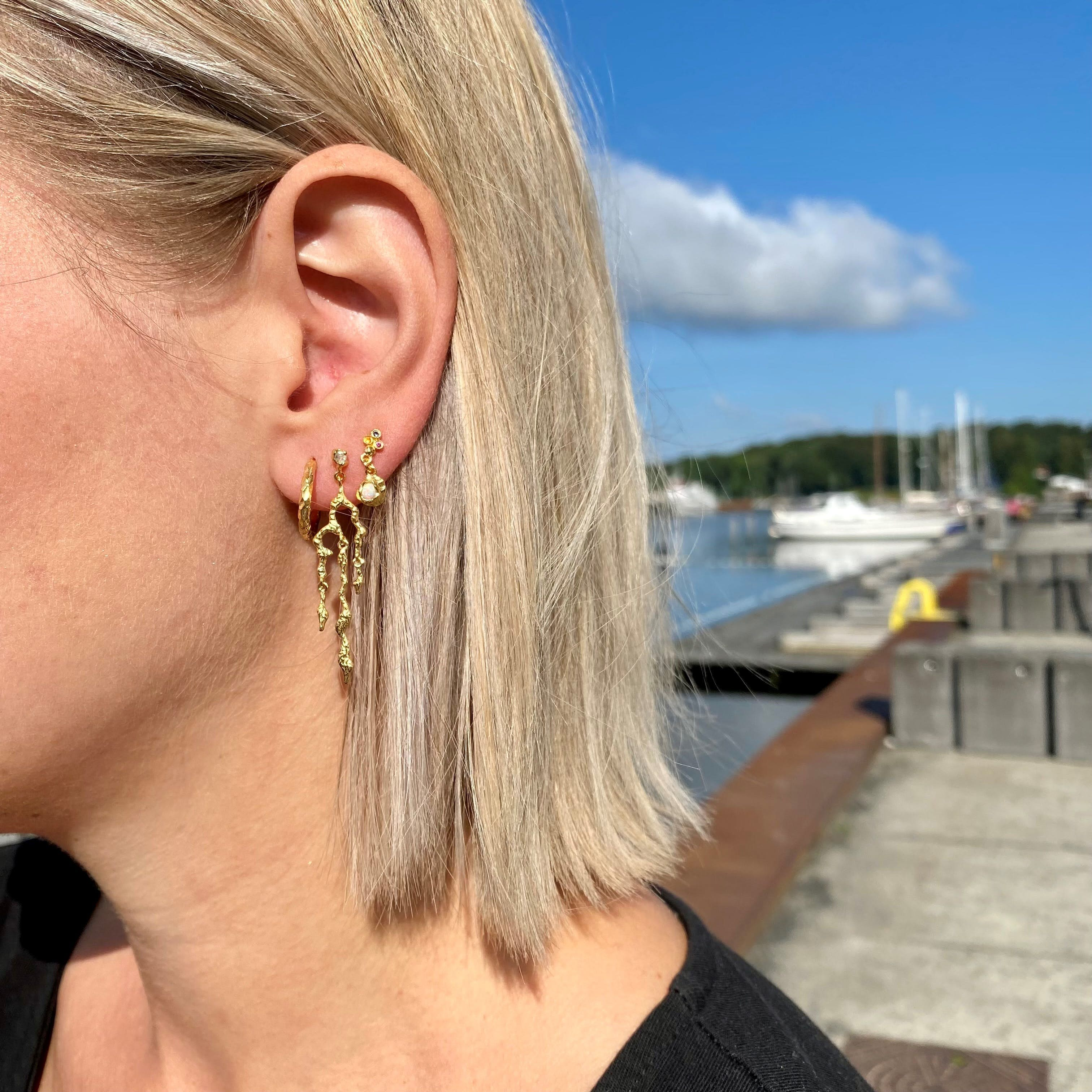 Ina Big earrings fra Maanesten i Sølv Sterling 925