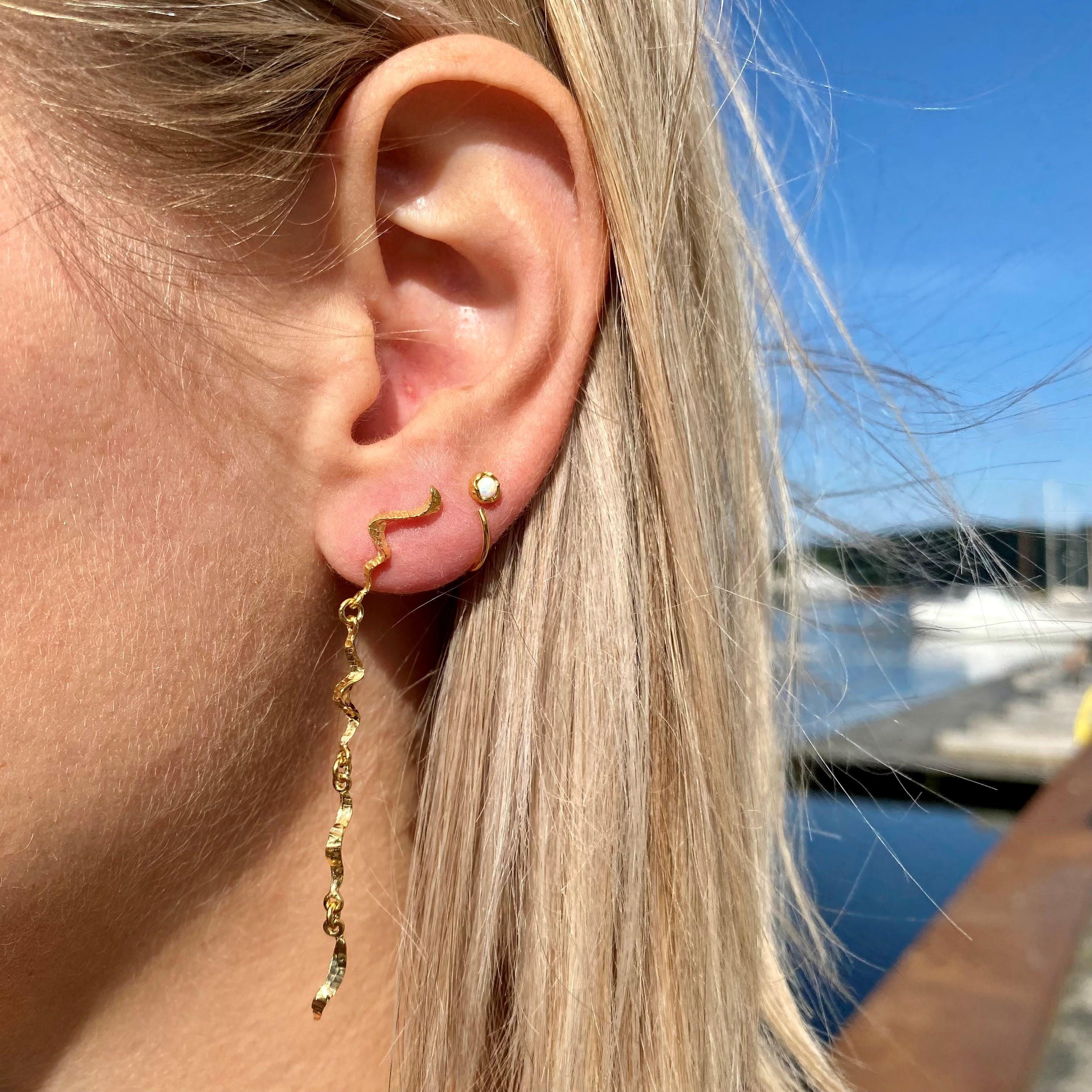 Cariba earrings fra Maanesten i Forgylt-Sølv Sterling 925