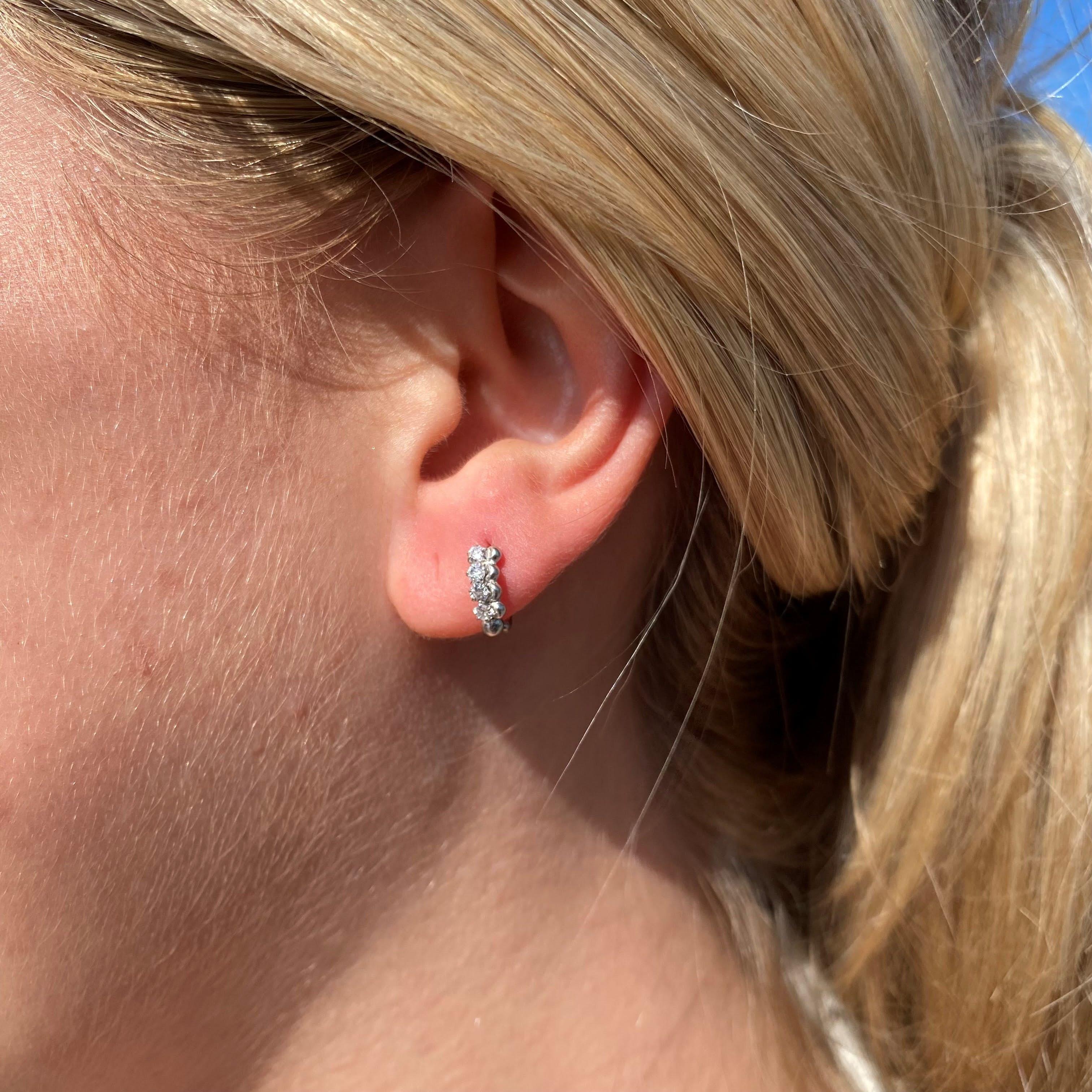 Lela 4 stones earrings von Maanesten in Silber Sterling 925