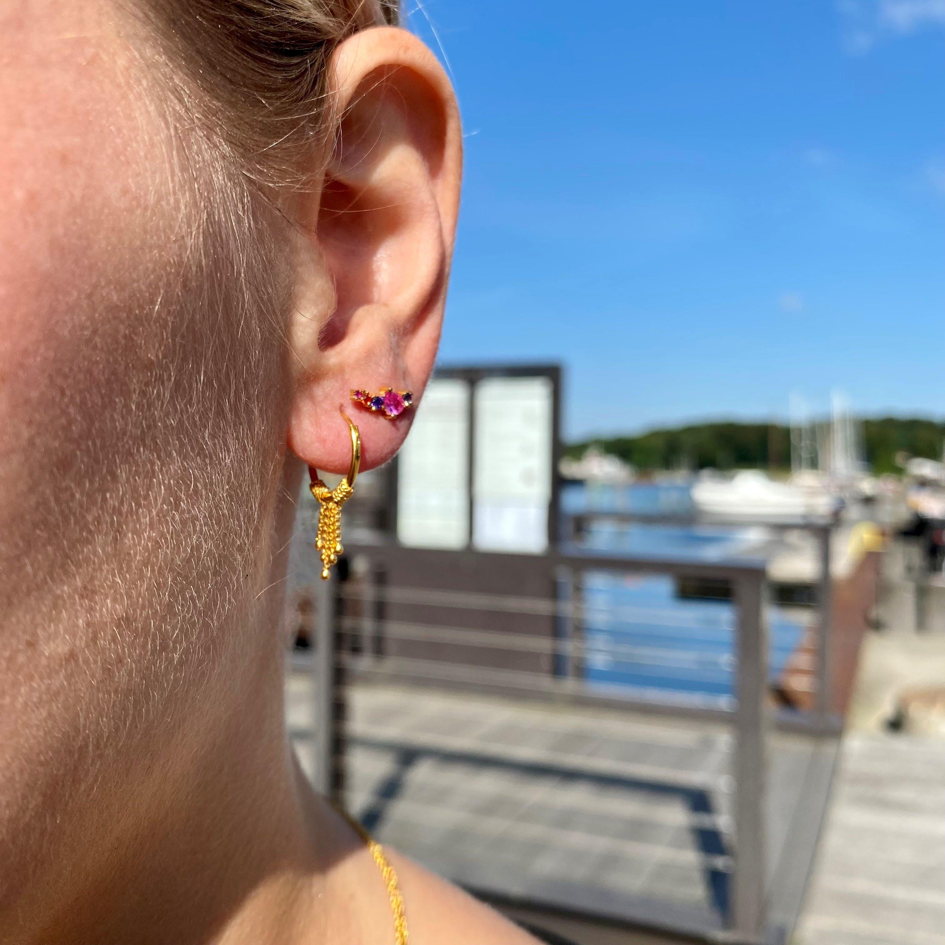 Ivonne earrings fra Maanesten i Forgyldt-Sølv Sterling 925