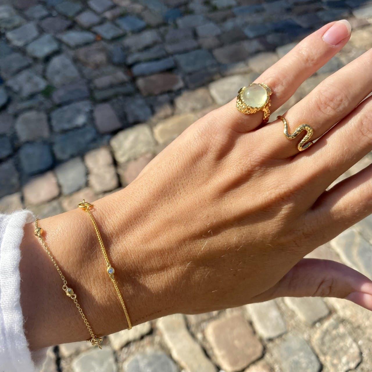 Lava bracelet från Maanesten i Silver Sterling 925|Blank