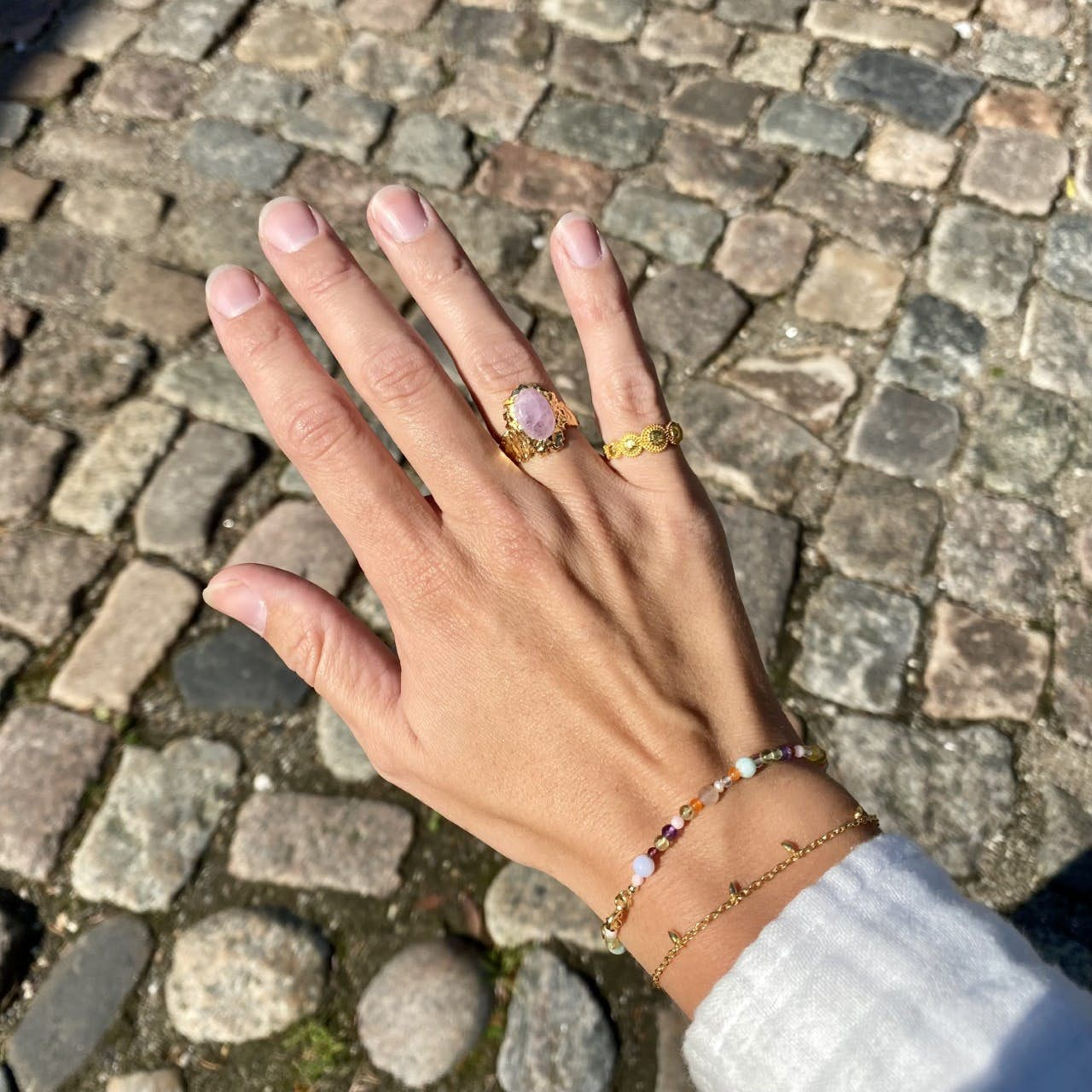 Pendul Bracelet von Maanesten in Vergoldet-Silber Sterling 925