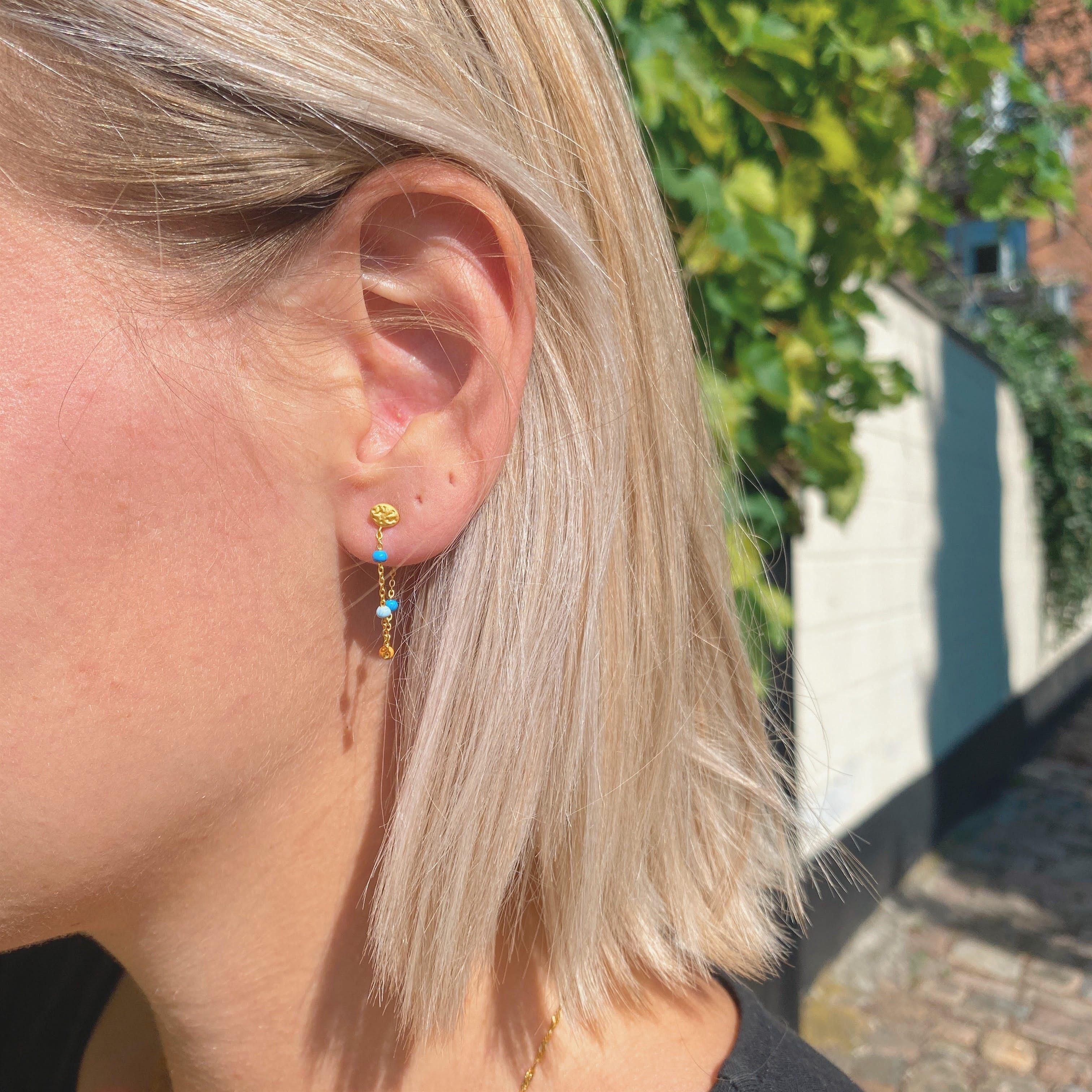 Lola Earrings Breezy von Enamel Copenhagen in Vergoldet-Silber Sterling 925