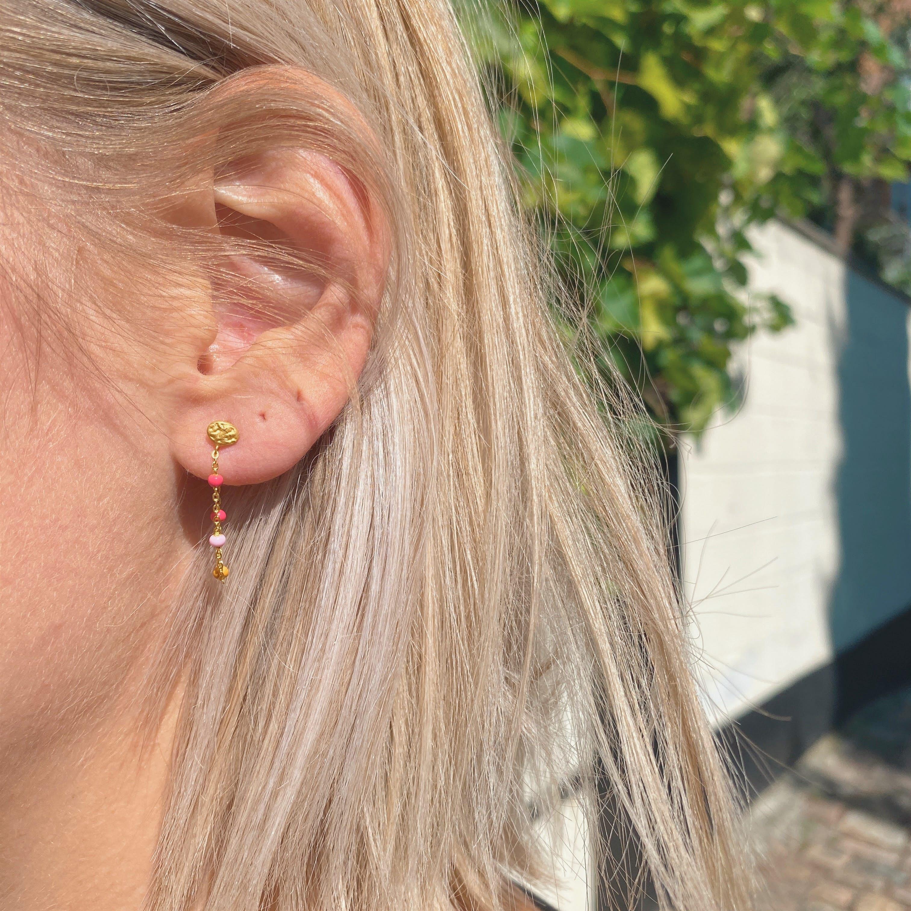 Lola Earrings Sunrise från Enamel Copenhagen i Förgyllt-Silver Sterling 925