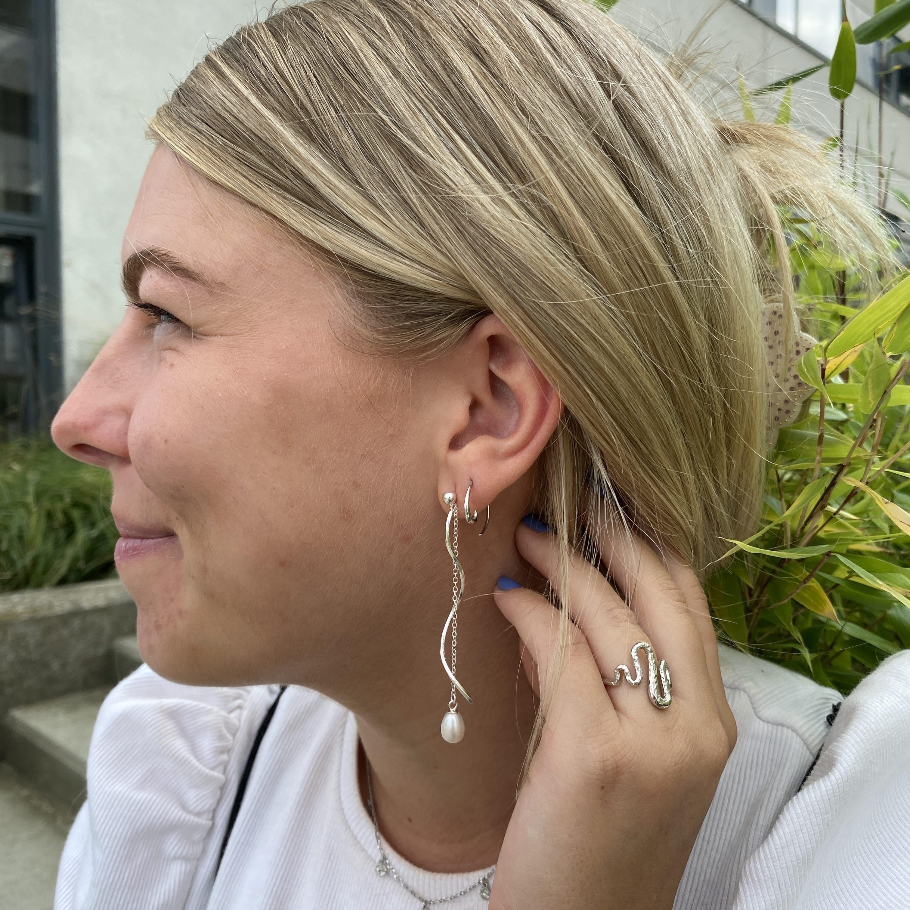 Emma Petit earring fra Maanesten i Sølv Sterling 925