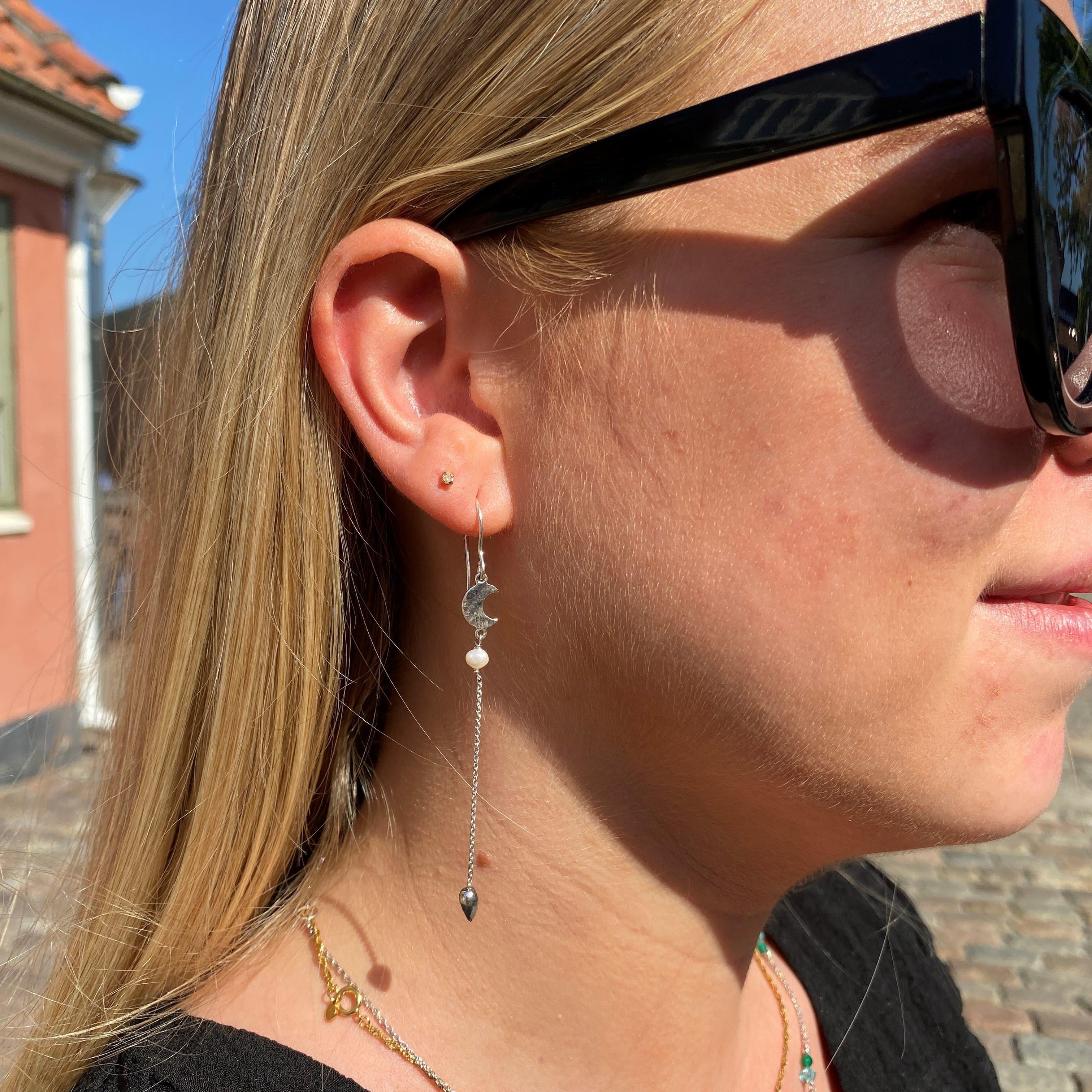 Dream earrings long fra Sistie i Forgylt-Sølv Sterling 925