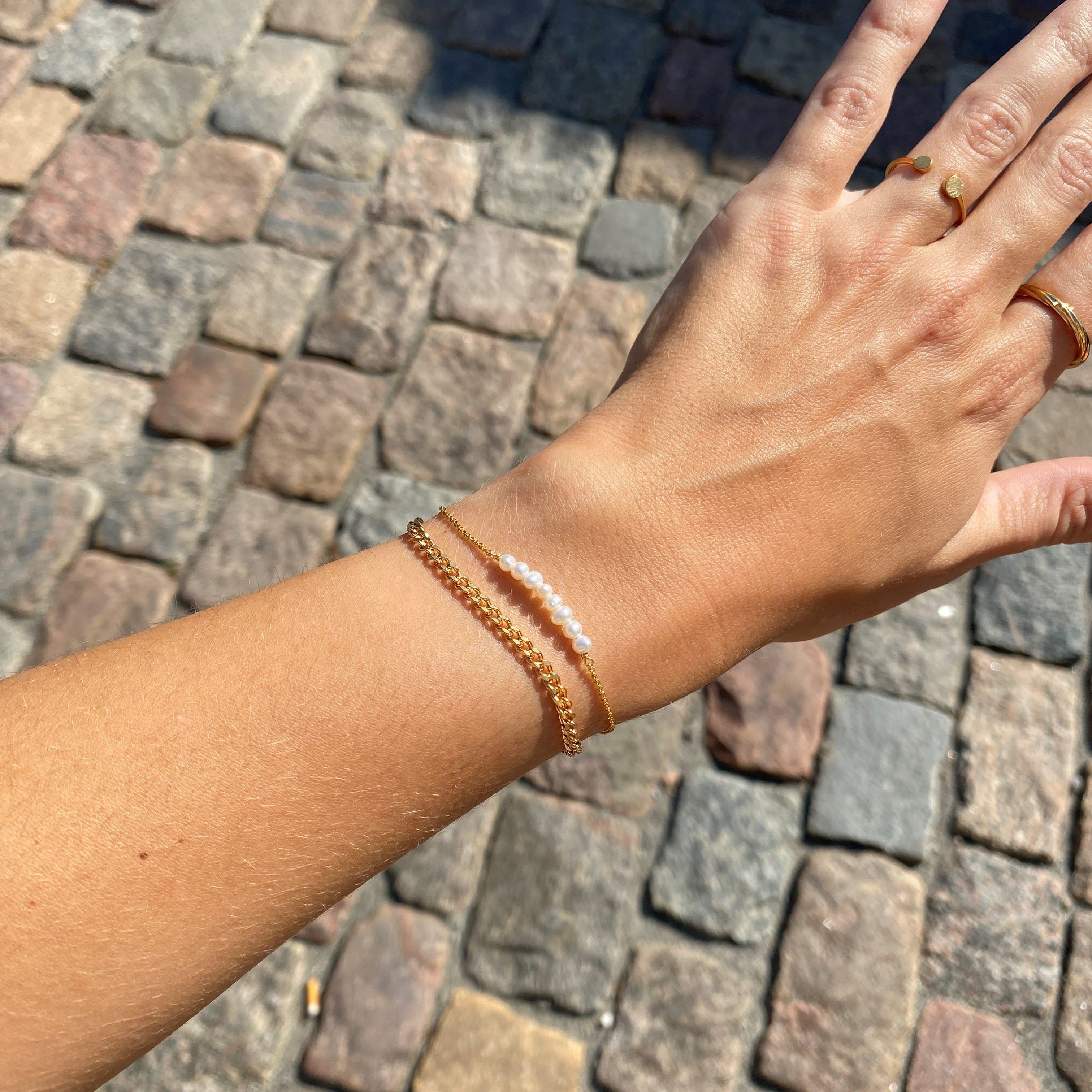 Dashing White bracelet fra Sistie i Forgylt-Sølv Sterling 925|Blank