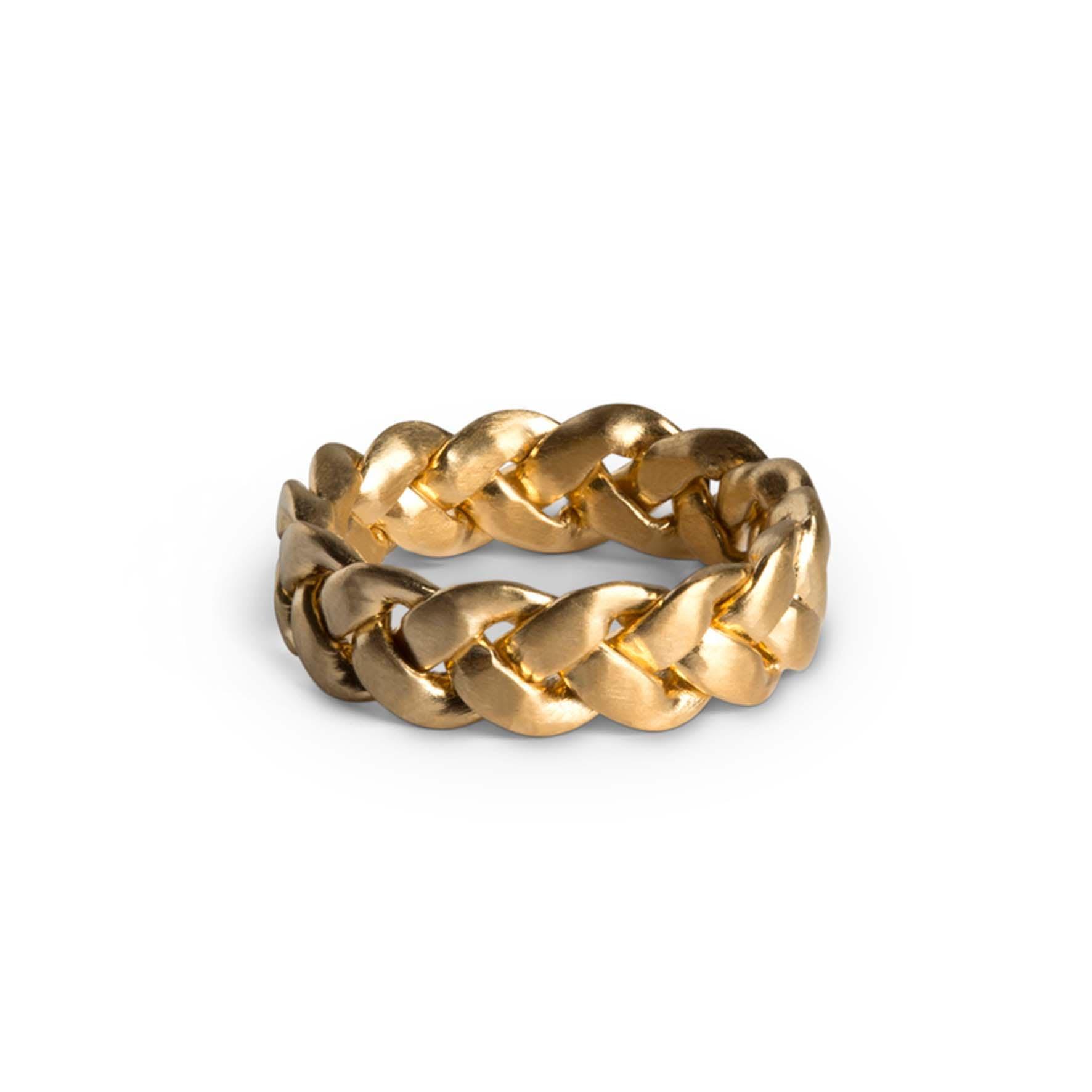 Big Braided Ring från Jane Kønig i Förgyllt-Silver Sterling 925