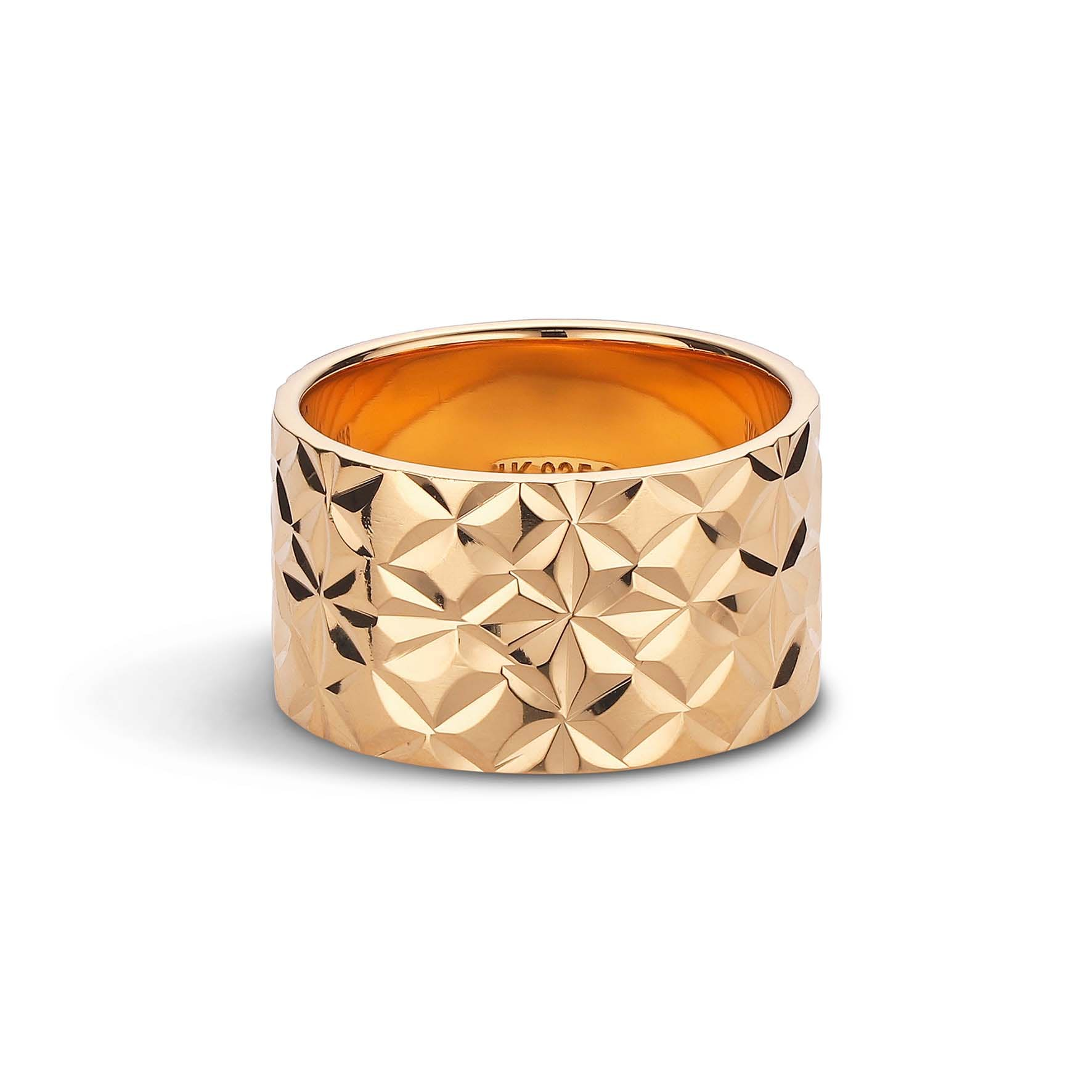 Big Reflection Ring from Jane Kønig in Goldplated-Silver Sterling 925