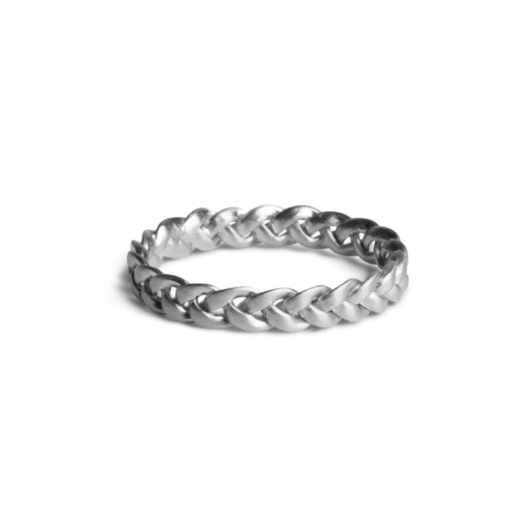 Medium Braided Ring fra Jane Kønig i Sølv Sterling 925