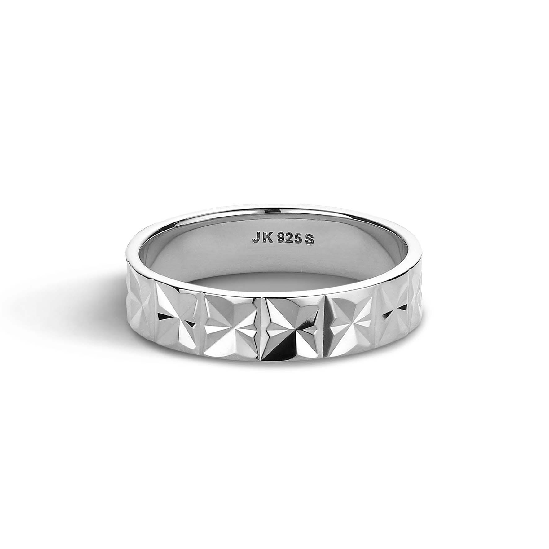 Medium Reflection Ring fra Jane Kønig i Sølv Sterling 925