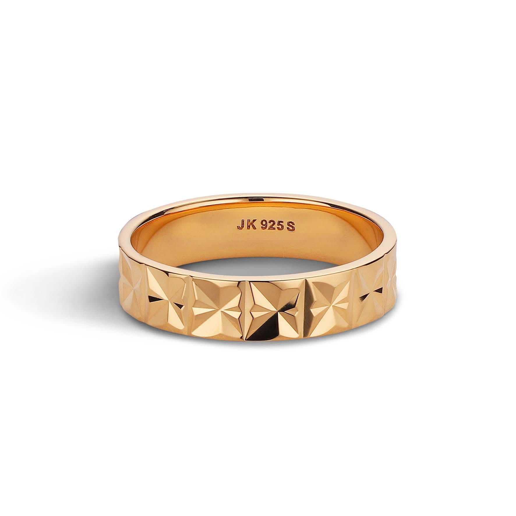 Medium Reflection Ring von Jane Kønig in Vergoldet-Silber Sterling 925