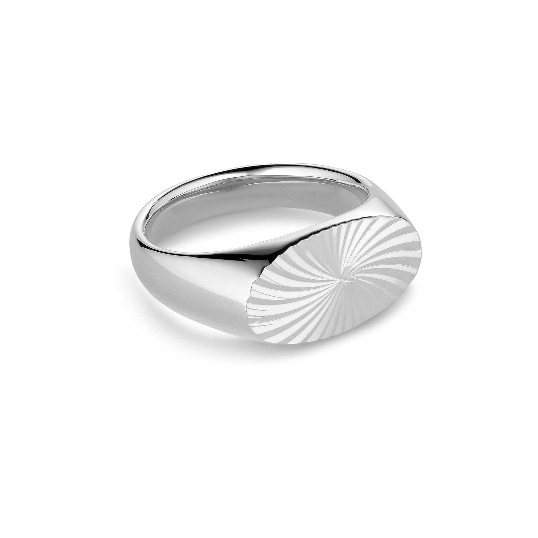 Reflection Signet Ring von Jane Kønig in Silber Sterling 925