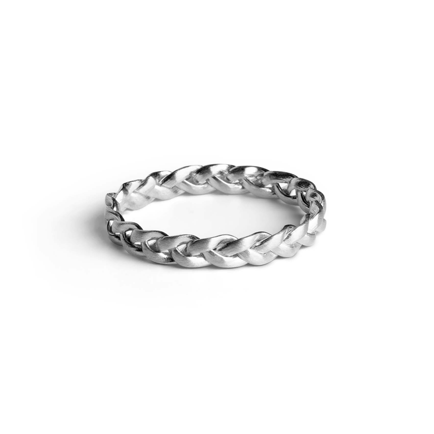 Small Braided Ring von Jane Kønig in Silber Sterling 925