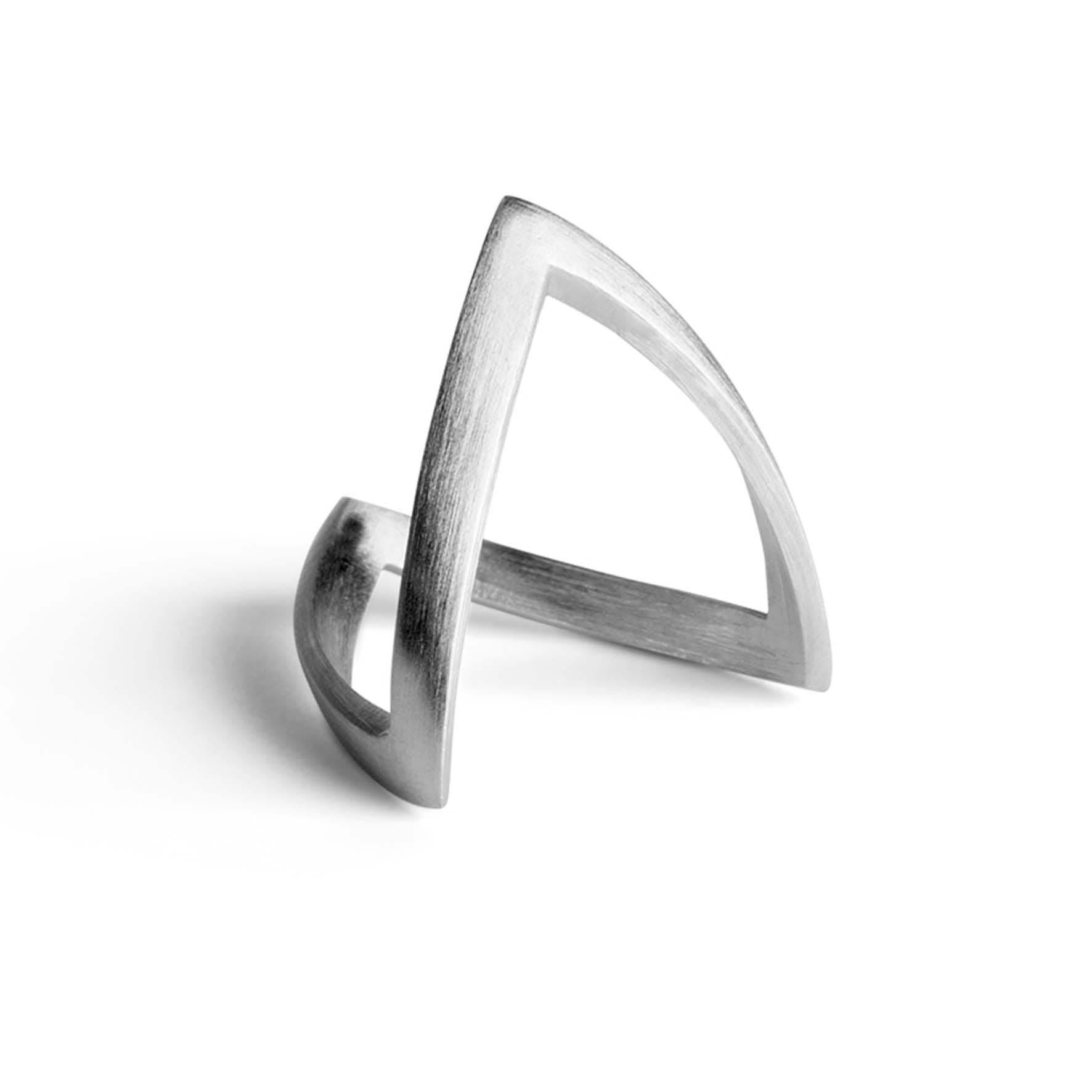 V Ring von Jane Kønig in Silber Sterling 925