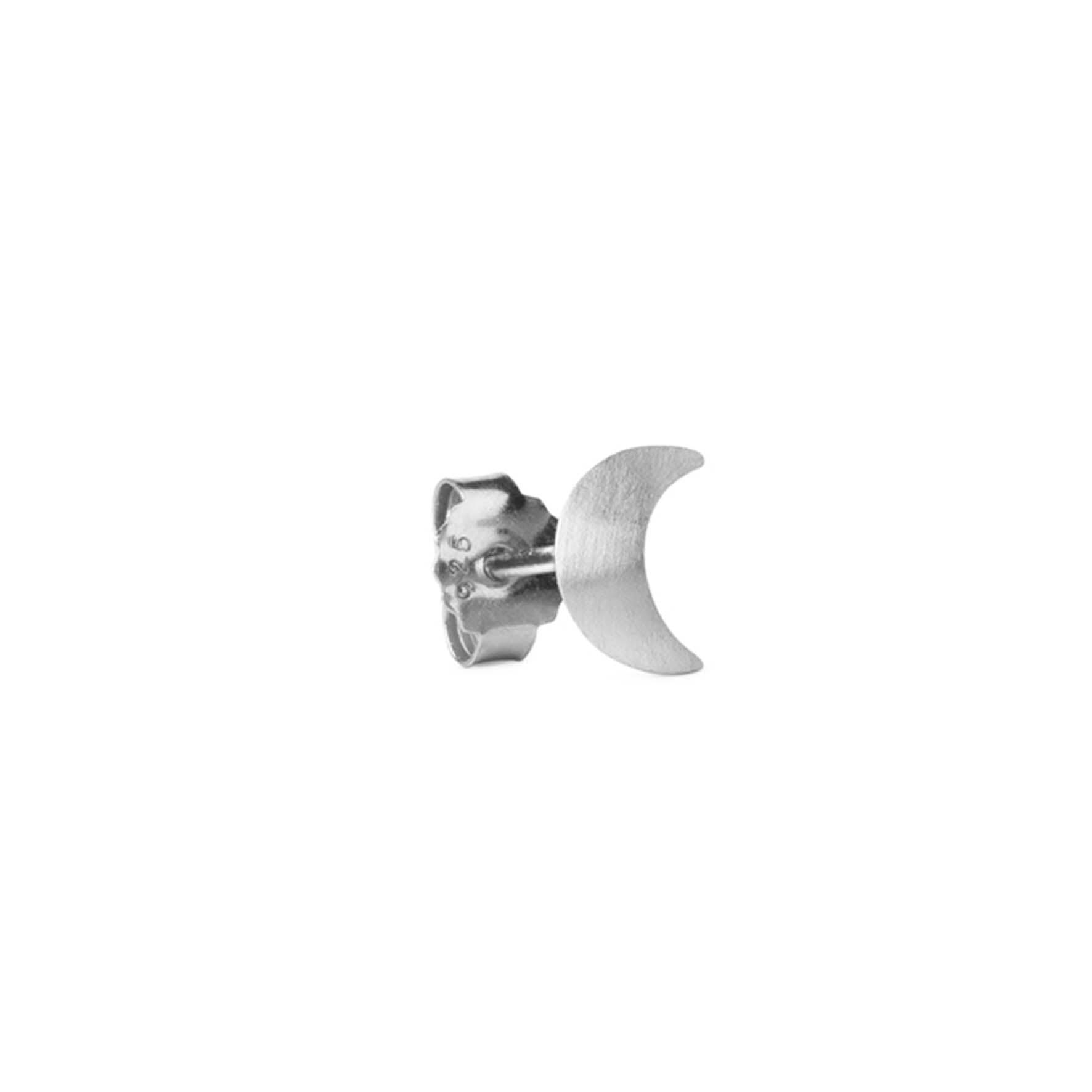 Small Half Moon Stud von Jane Kønig in Silber Sterling 925