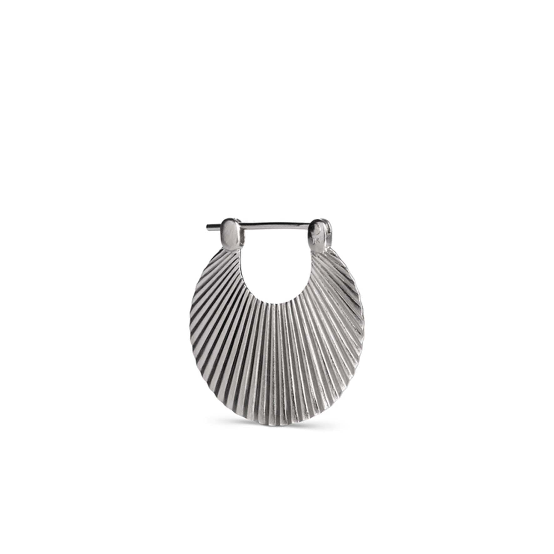 Small Shell Earring von Jane Kønig in Silber Sterling 925 Matt