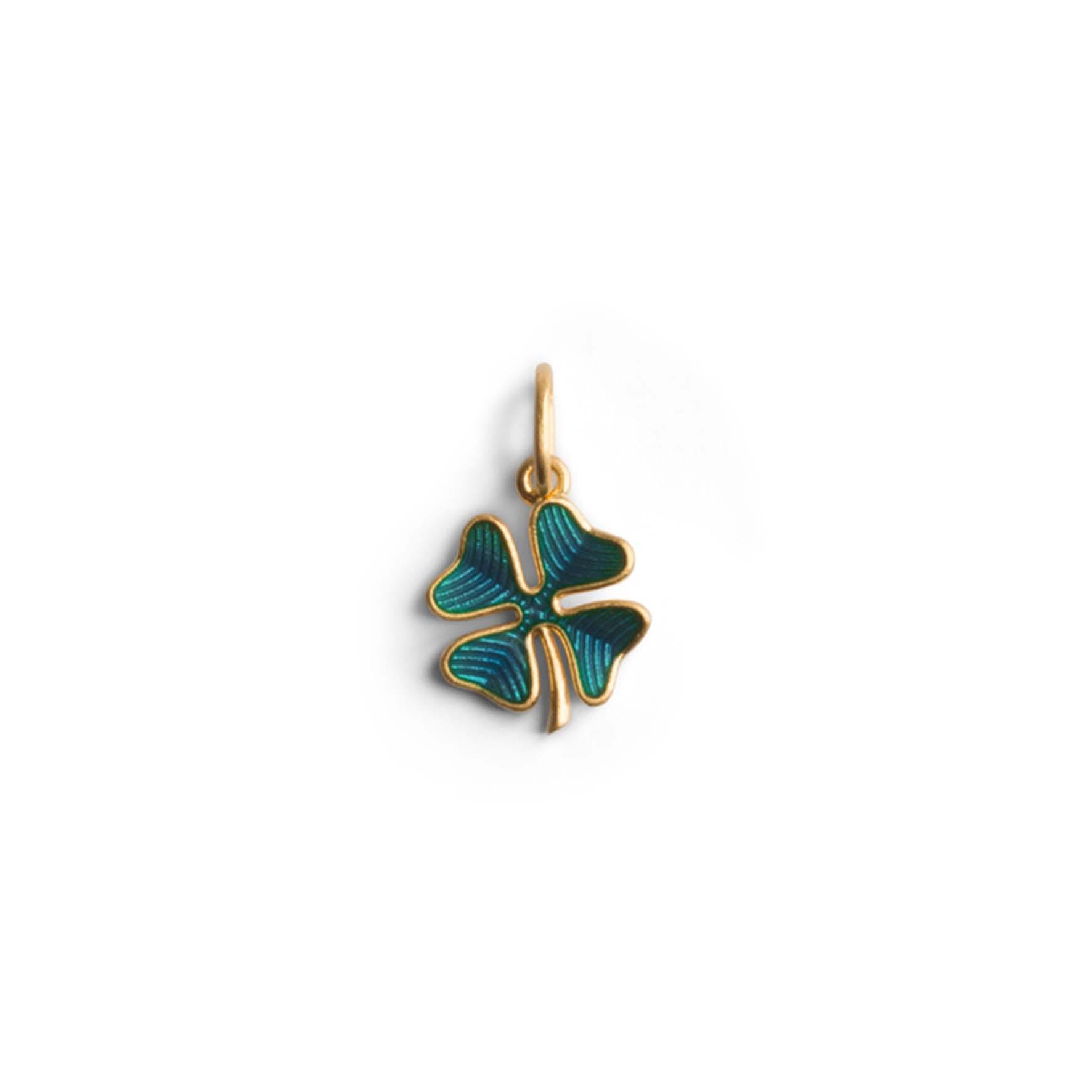 Four-Leaf Clover Pendant With Enamel von Jane Kønig in Vergoldet-Silber Sterling 925