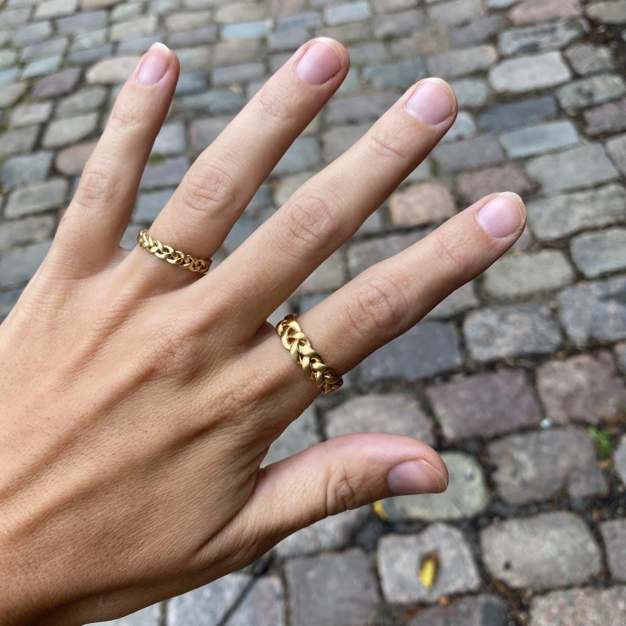 Big Braided Ring fra Jane Kønig i Sølv Sterling 925