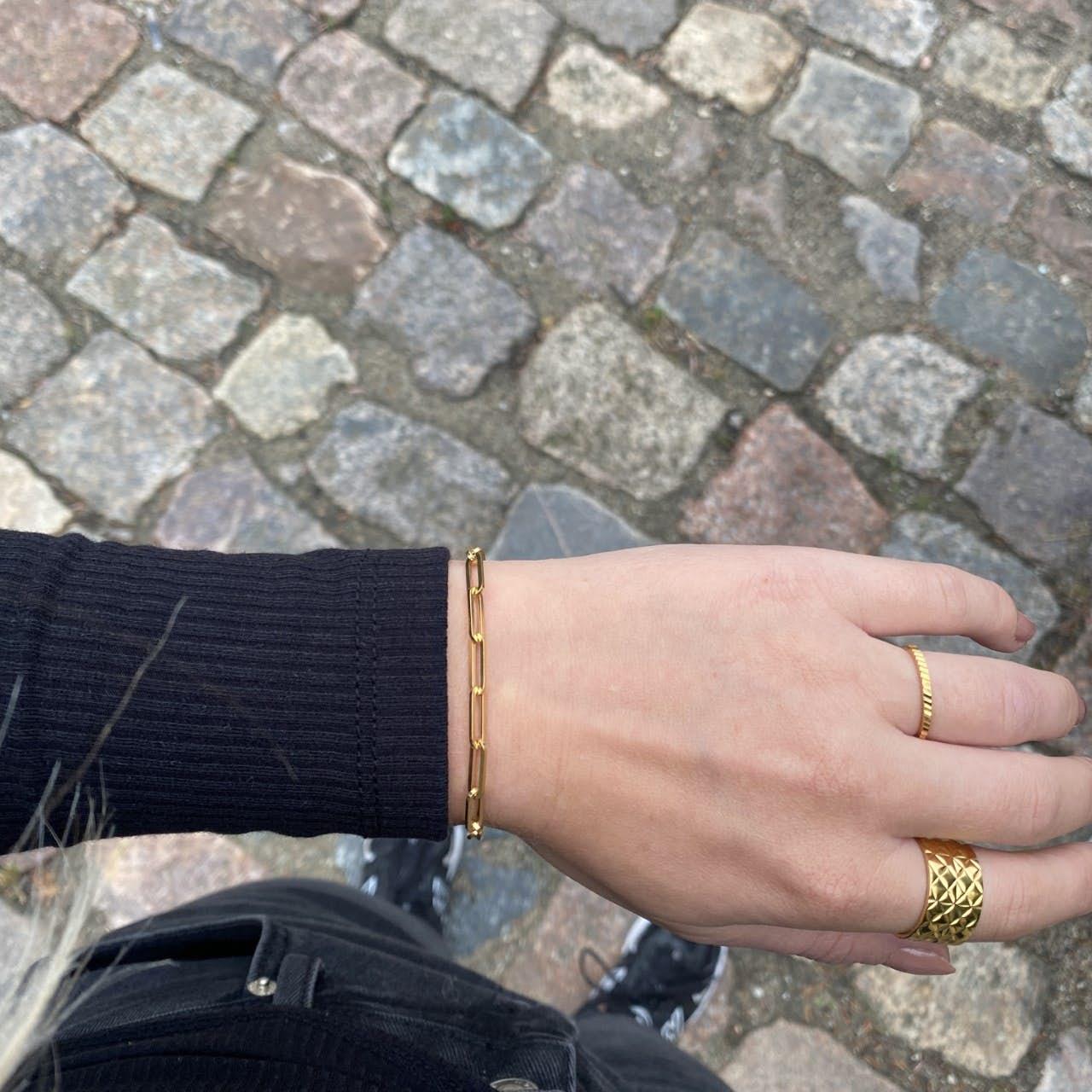 Stretched Reflection Bracelet von Jane Kønig in Silber Sterling 925