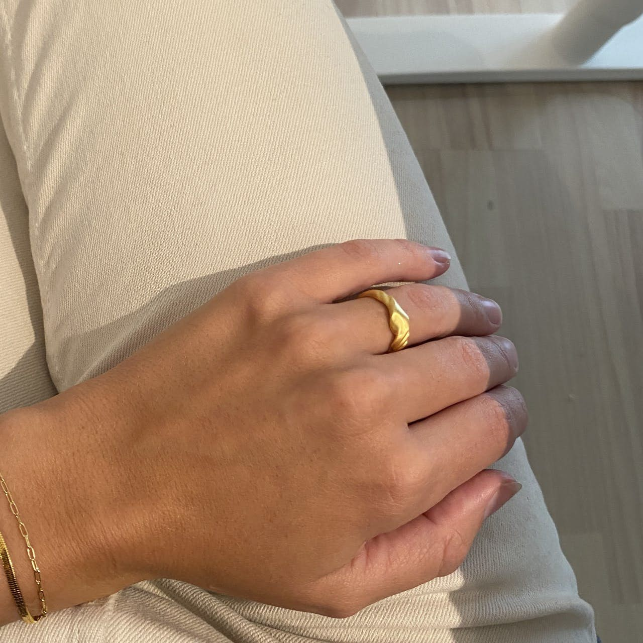 Velvet Ring von STINE A Jewelry in Vergoldet-Silber Sterling 925