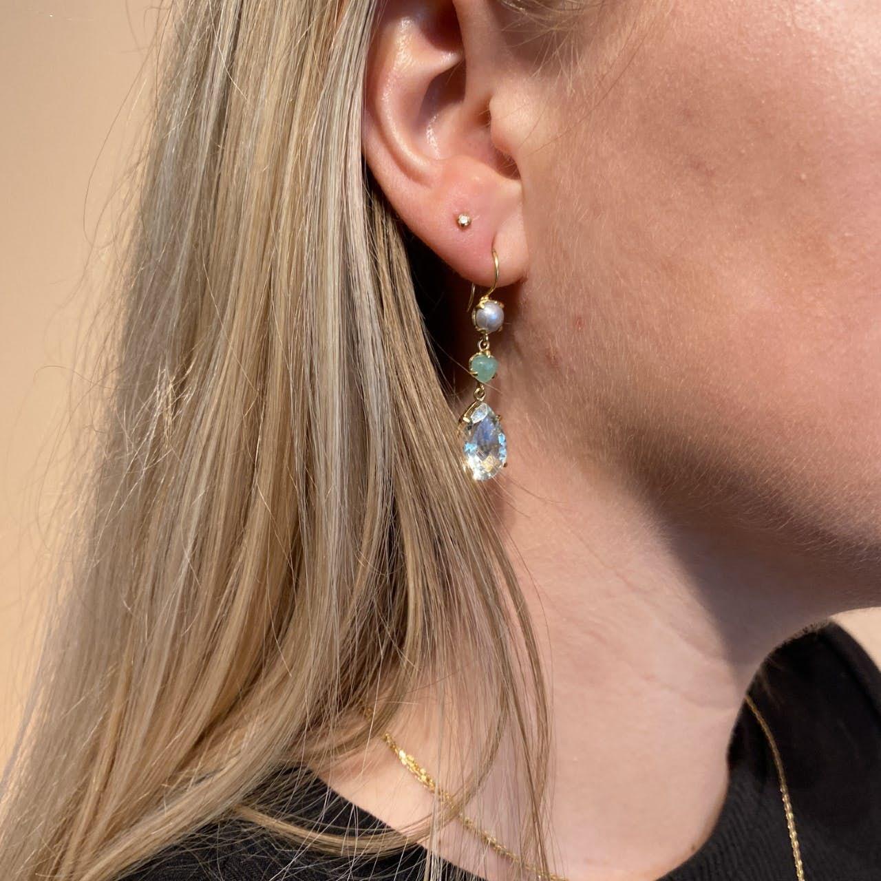 Gem Candy Earrings Aqua